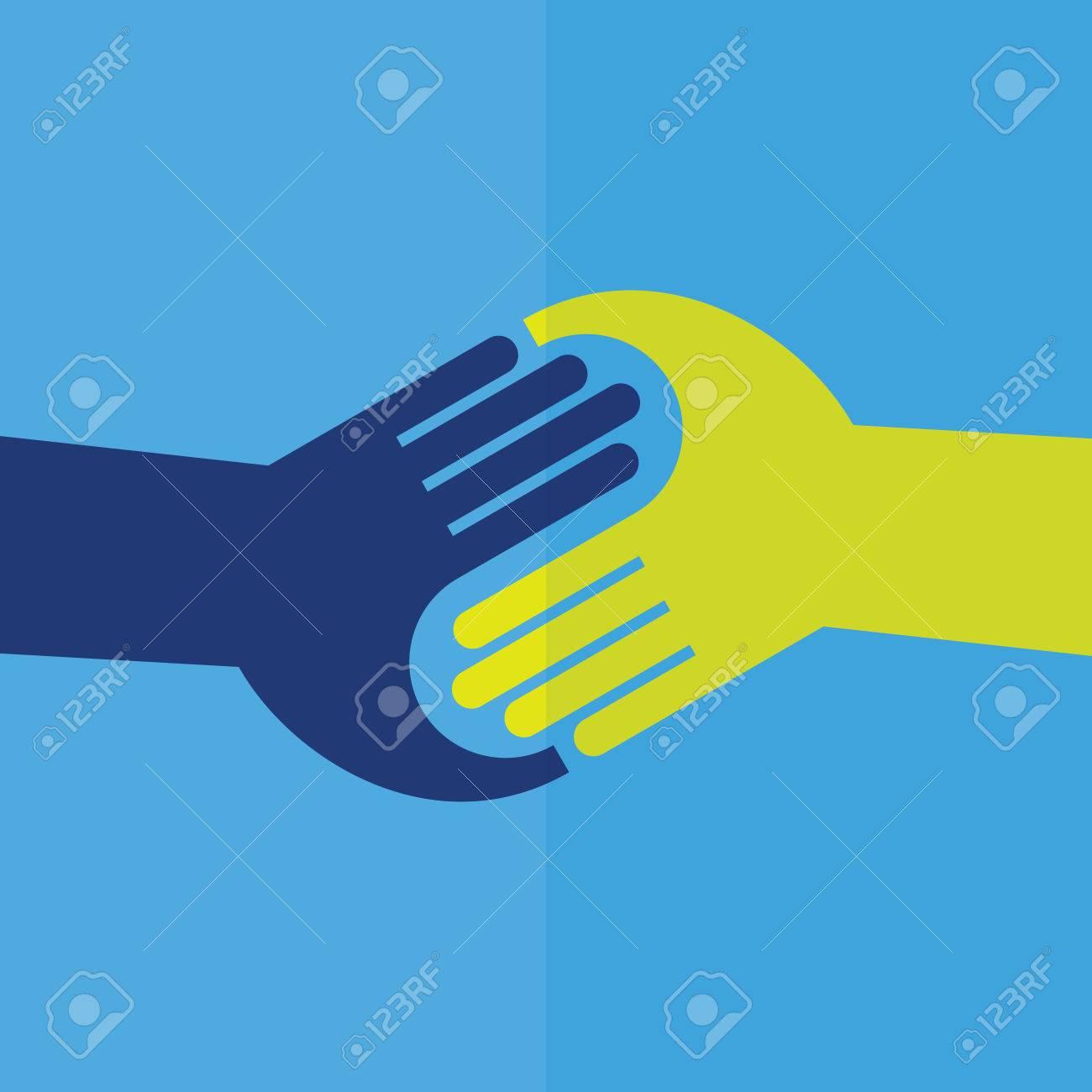 Teamwork Handshake . Vector illustration. - 61265807