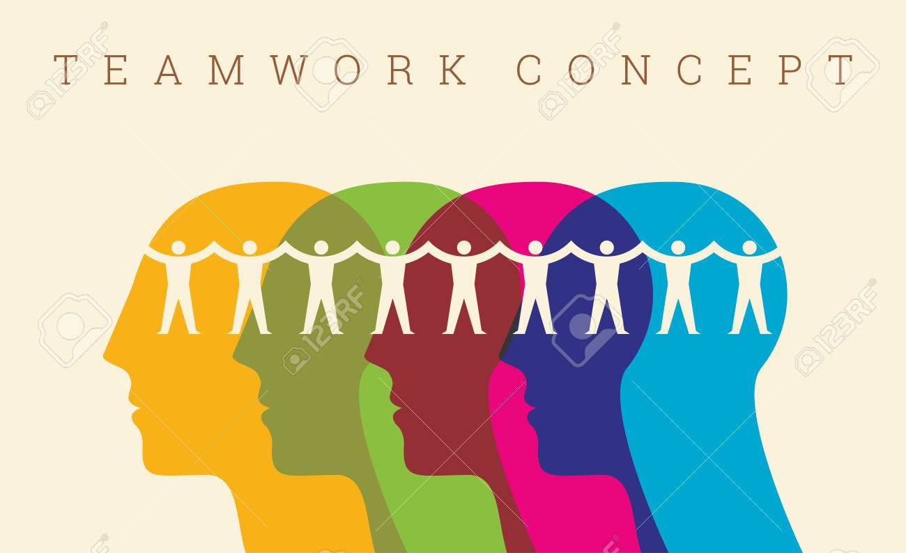 Teamwork People, Holding hands. Design for teamwork concept illustration - 62247492