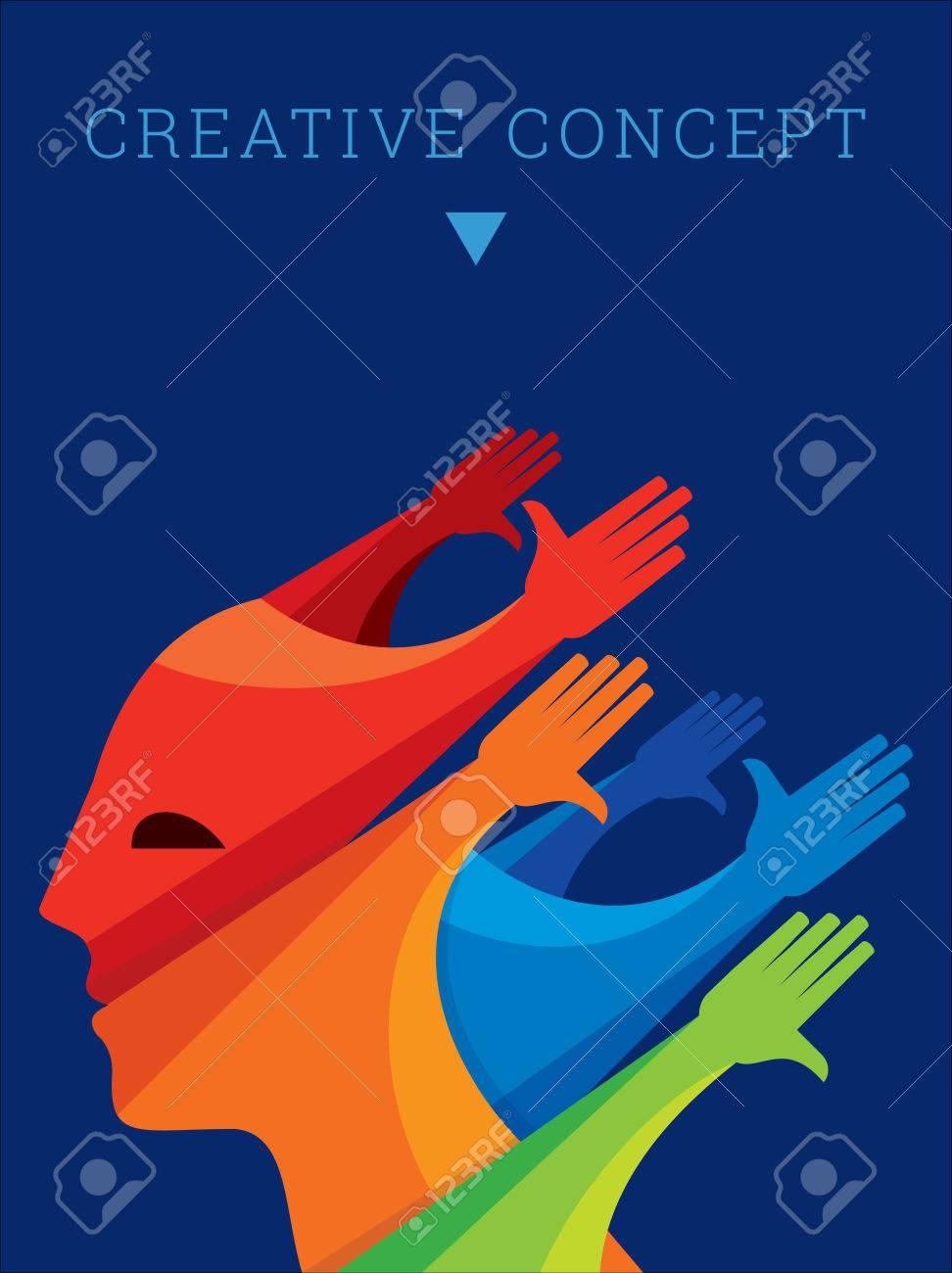 Teamwork People, Holding hands. Design for teamwork concept illustration - 62247540