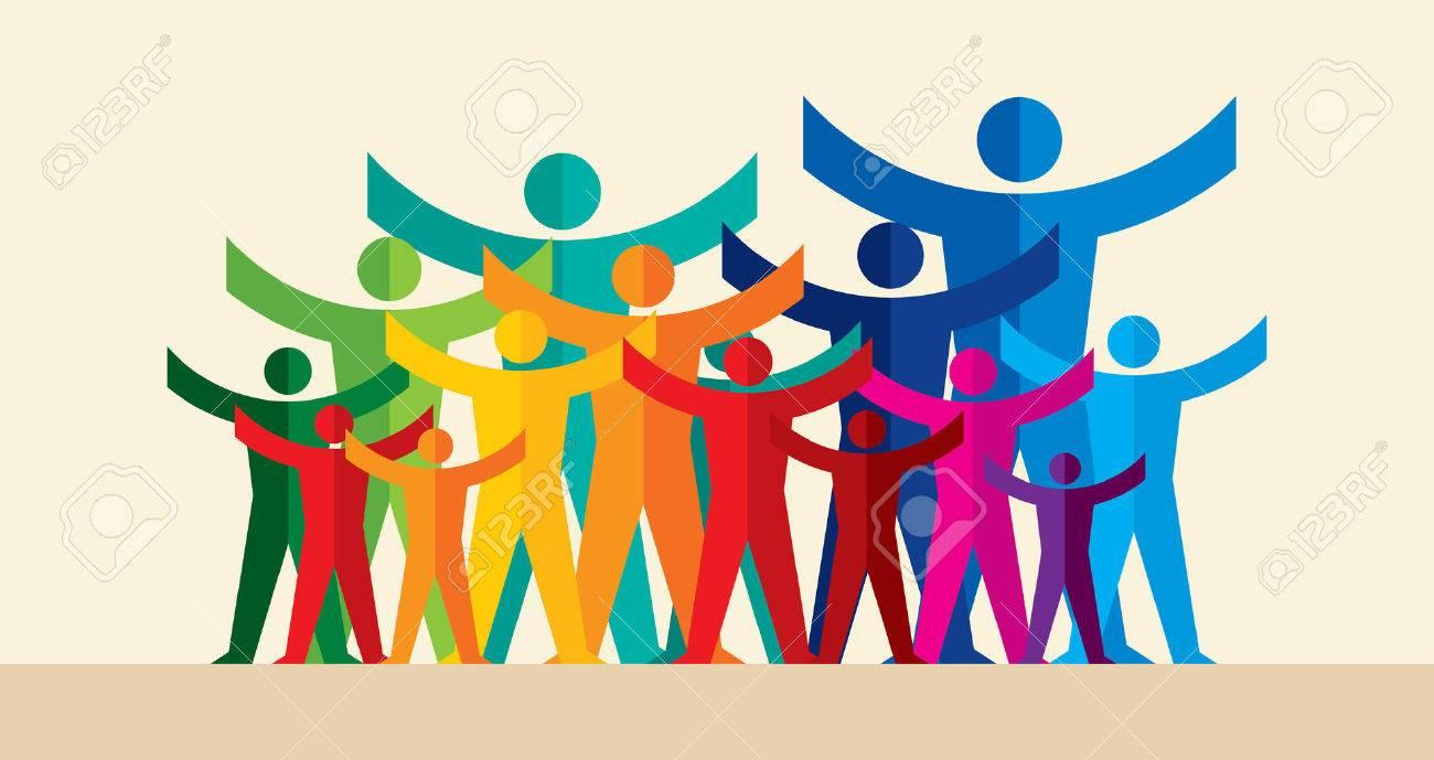 Teamwork People, Holding hands. Design for teamwork concept illustration - 62247545