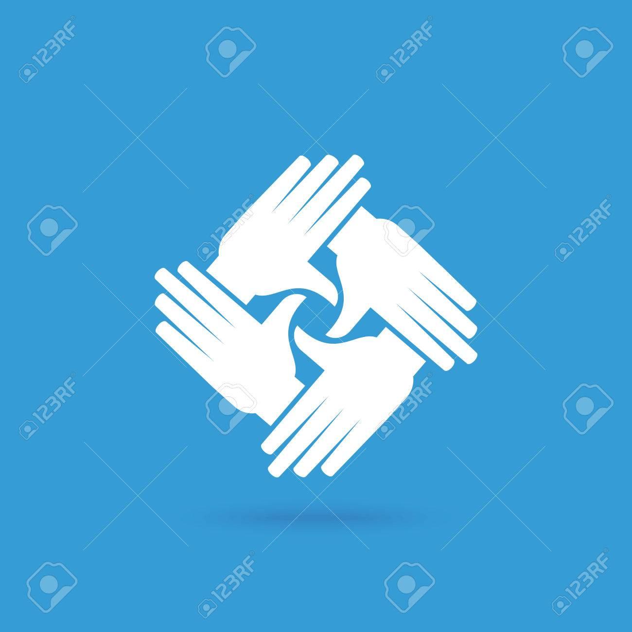 Teamwork People, Holding hands. Design for teamwork concept illustration - 62247657