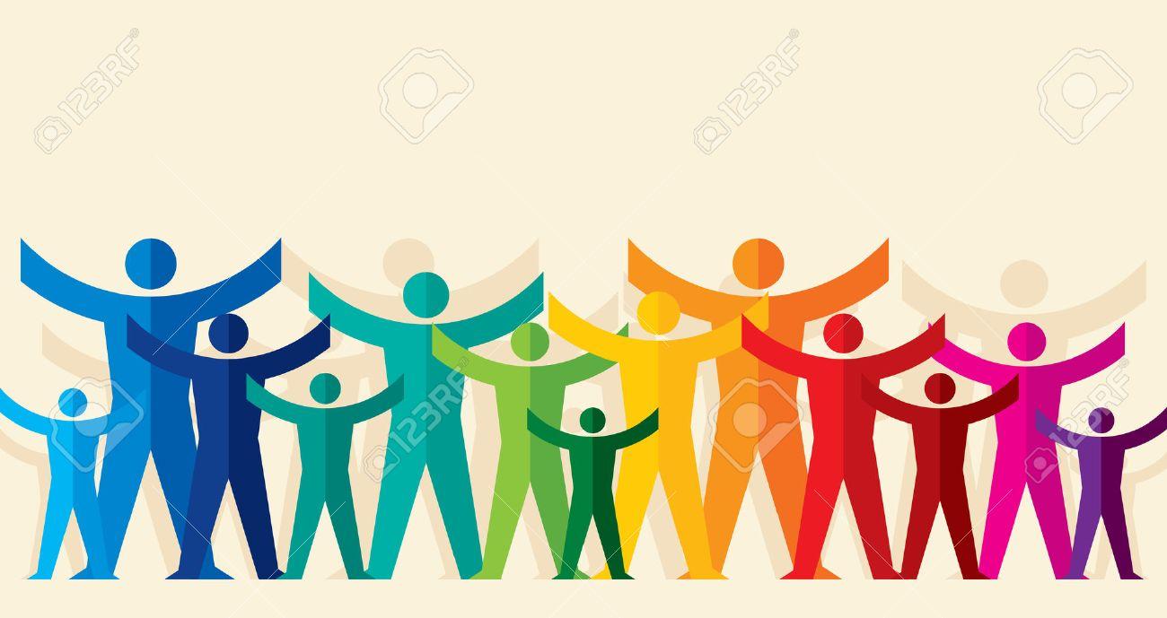 Teamwork People, Holding hands. Design for teamwork concept illustration - 62247828