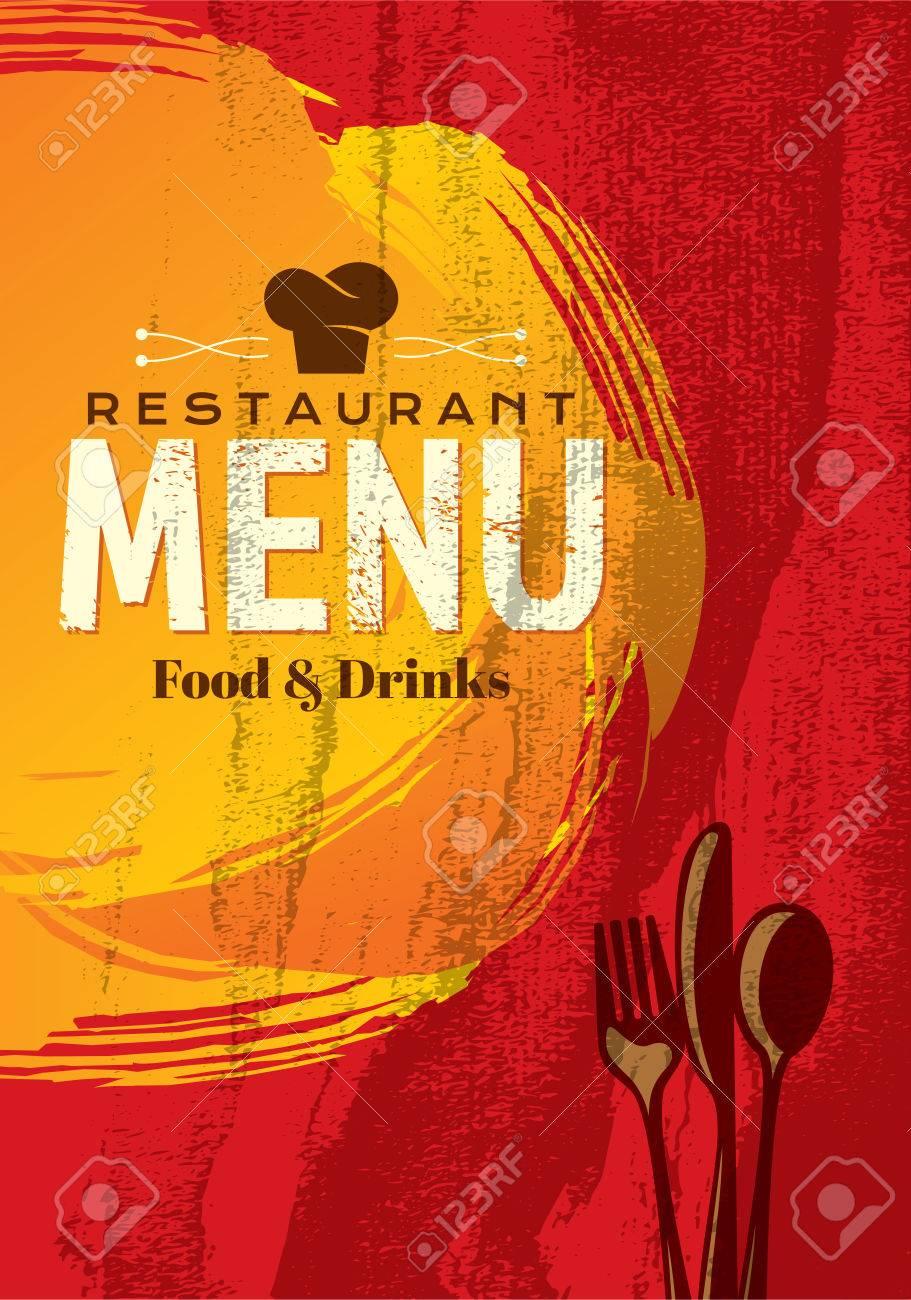 restaurant menu card design template, creative vector. royalty free