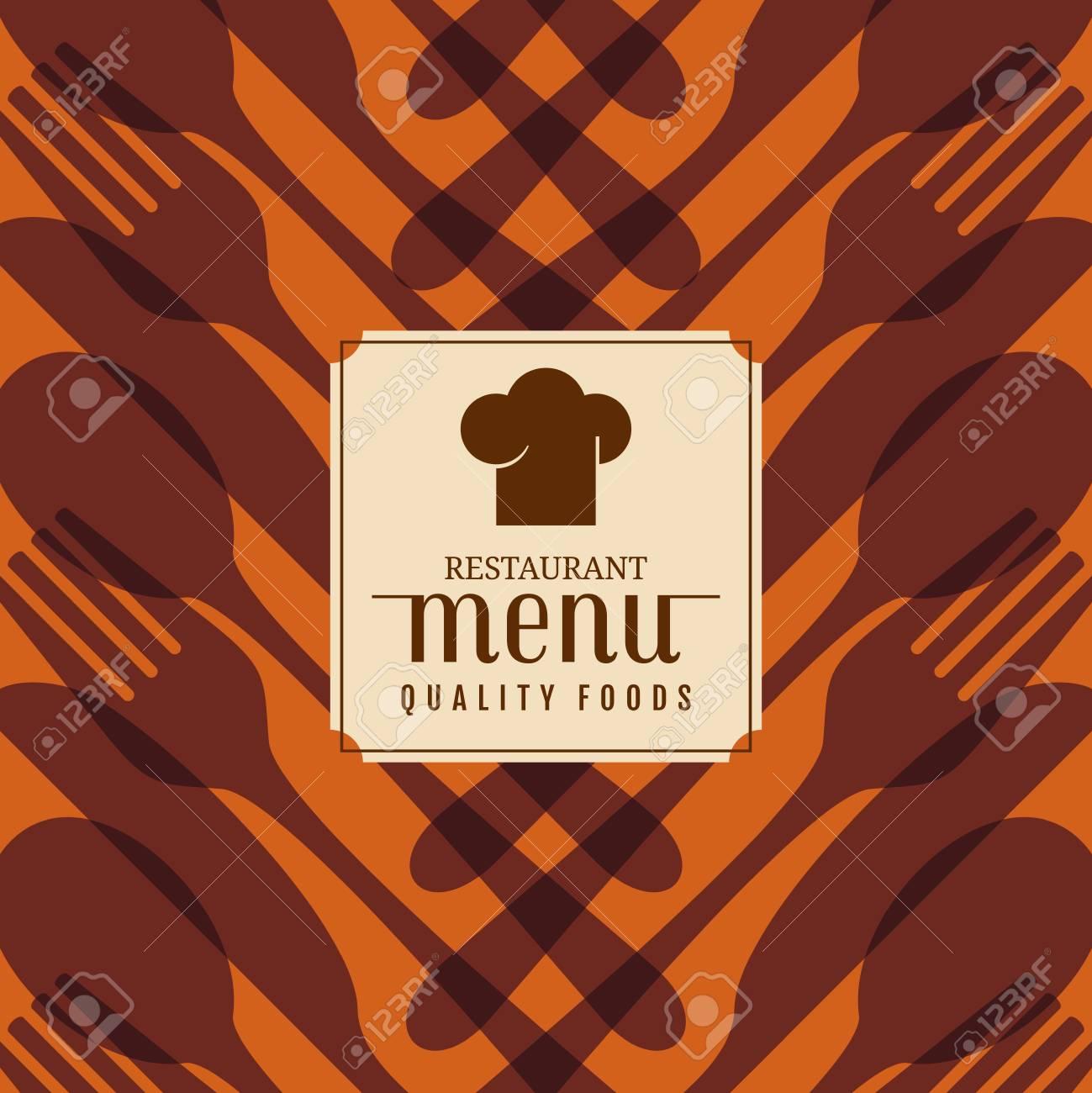Restaurante Tarjeta Del Menú Diseño De La Plantilla, Vector ...