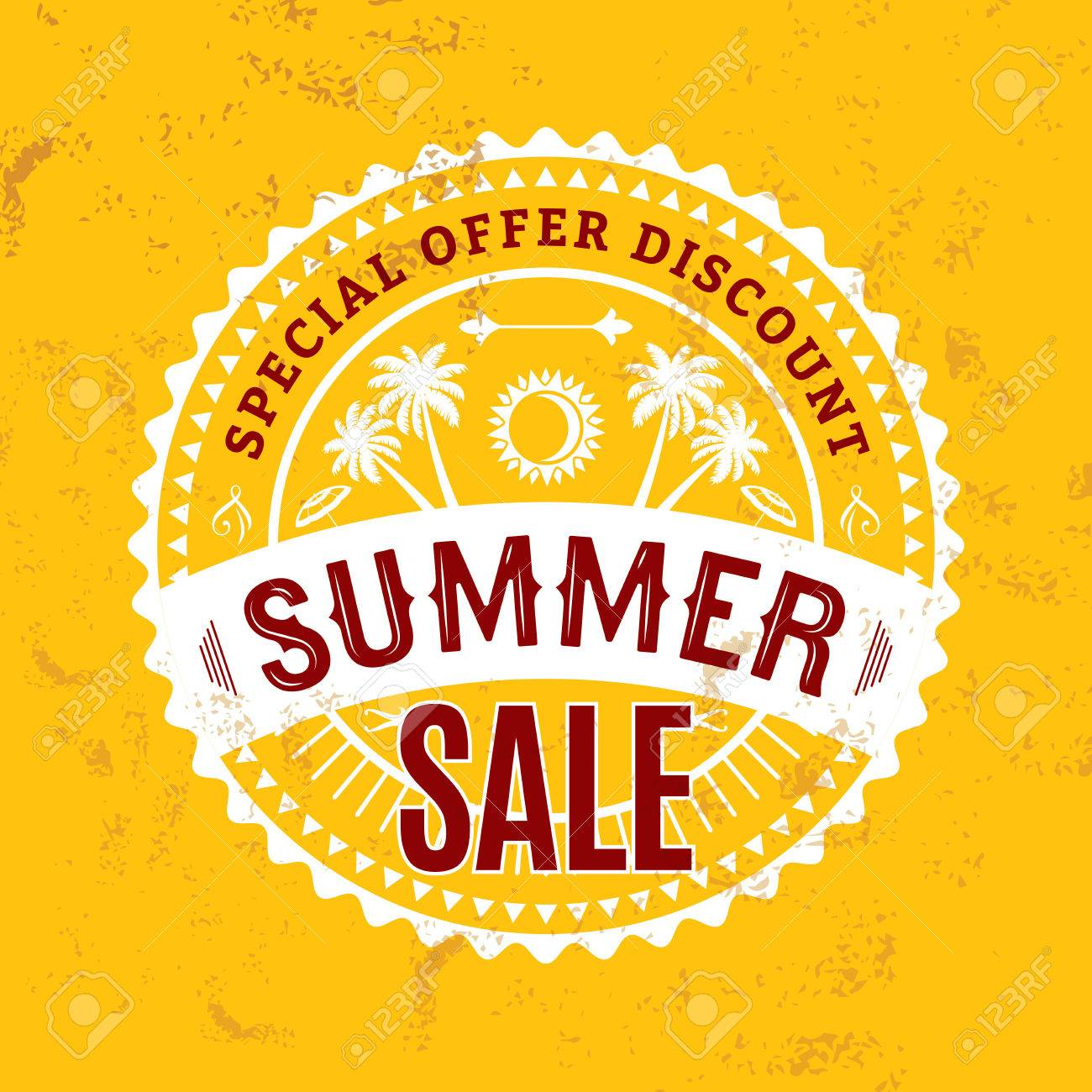 summer sale banner design template for promotion royalty free
