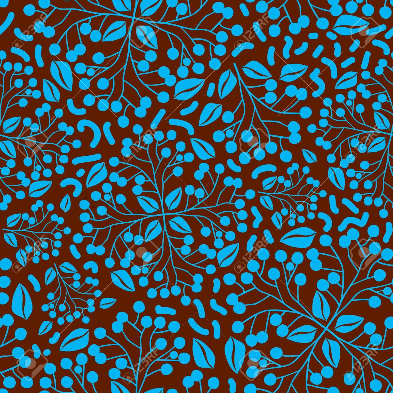Papier Peint Motif Nature résumé motif de la nature avec des plantes, des fleurs. motif sans fin peut  être utilisé pour le papier peint, motifs de remplissage, le fond de page