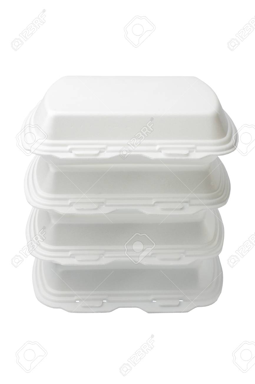 The Expanded Polystyrene Container Is Open For Food Products Stock Photo Picture And Royalty Free Image Image 91276336