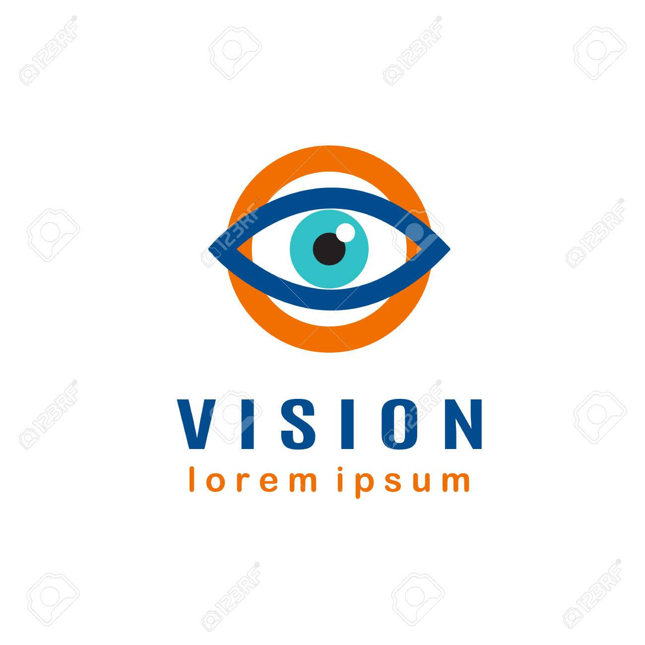 Modele Doeil Concept De Vision Carte Visite Dophtalmologiste Banque
