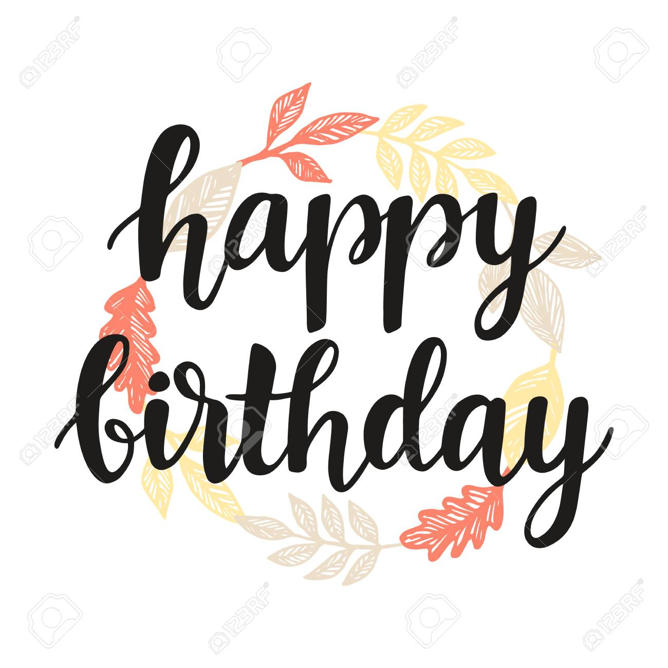 Happy Birthday Greeting Card Design Template Stock Photo