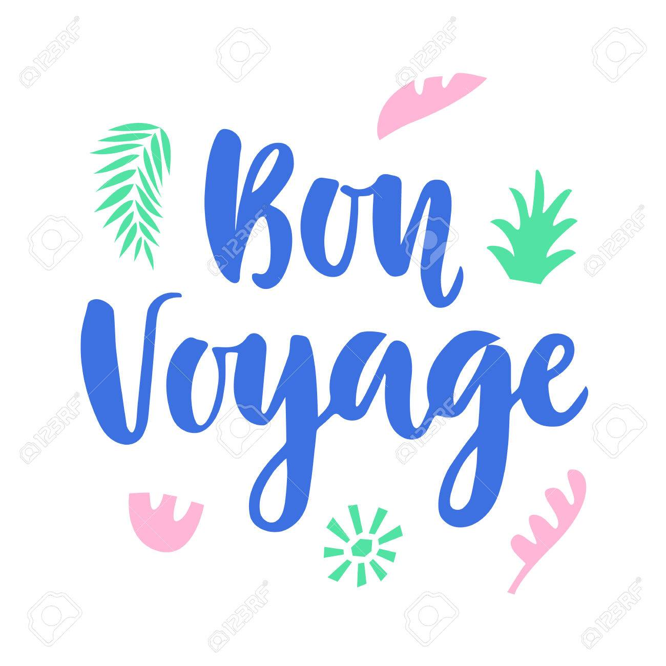 Bon Voyage Poster With Hand Wr...