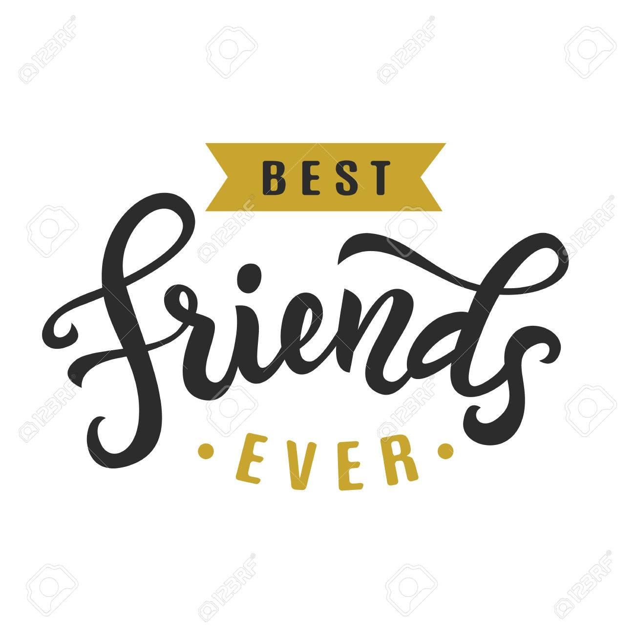 Friendship Day Cute Poster Stock Vector