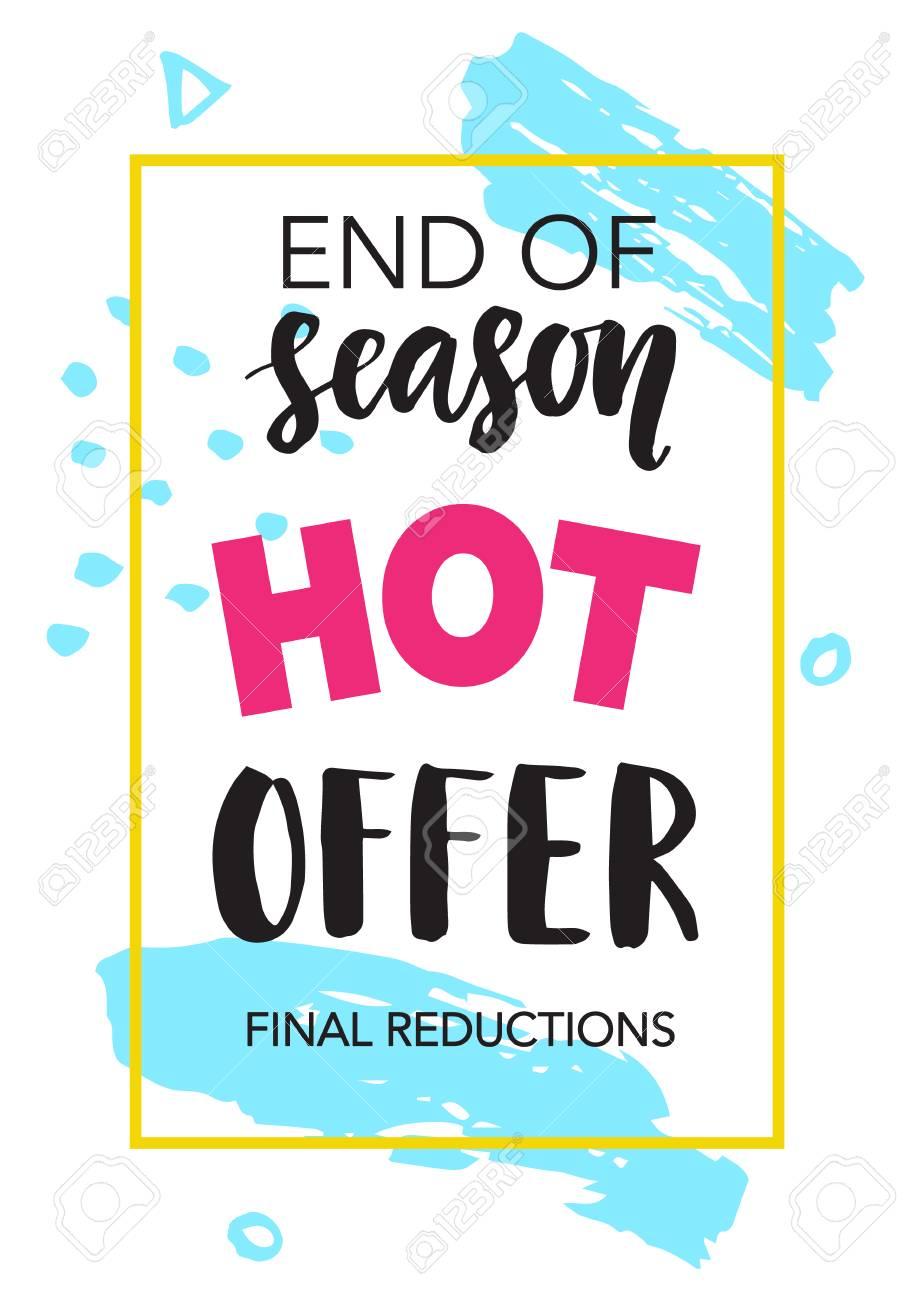 63965f996e4 Sale banner. End of season. Hot offer Stock Vector - 81875101