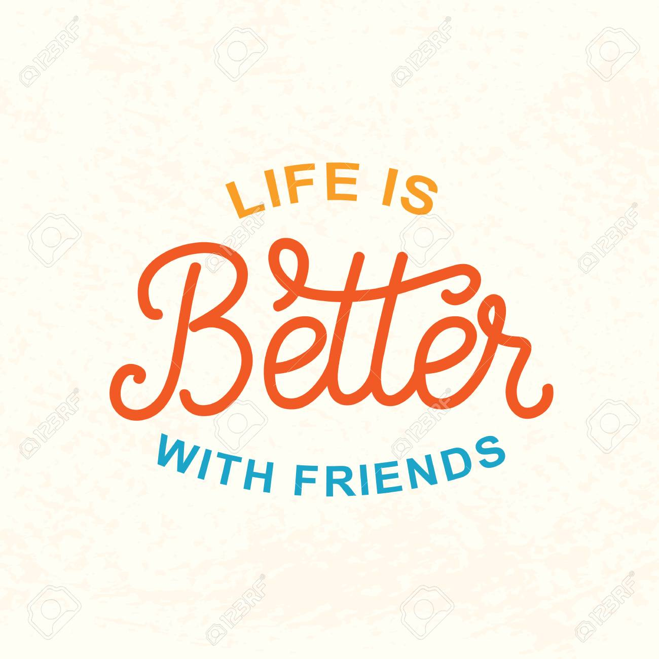 life is better with friends friendship day cute poster royalty free
