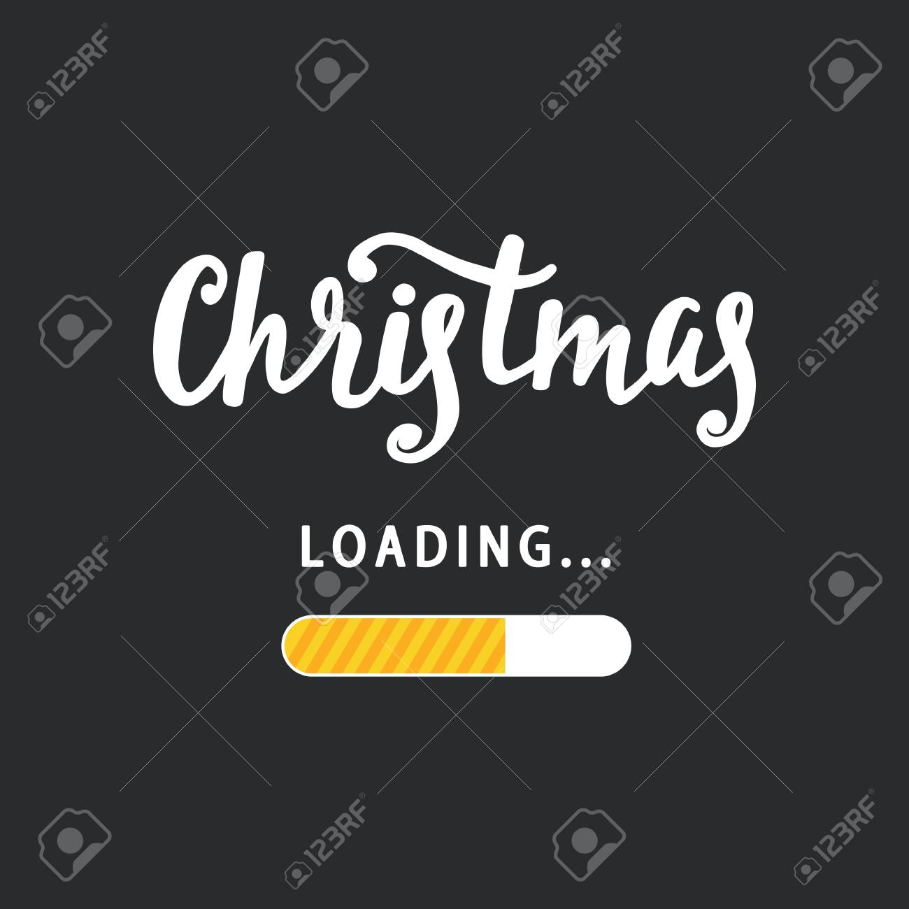 Weihnachten Wird Geladen. Amüsantes Handgemachtes Feiertagsplakat ...
