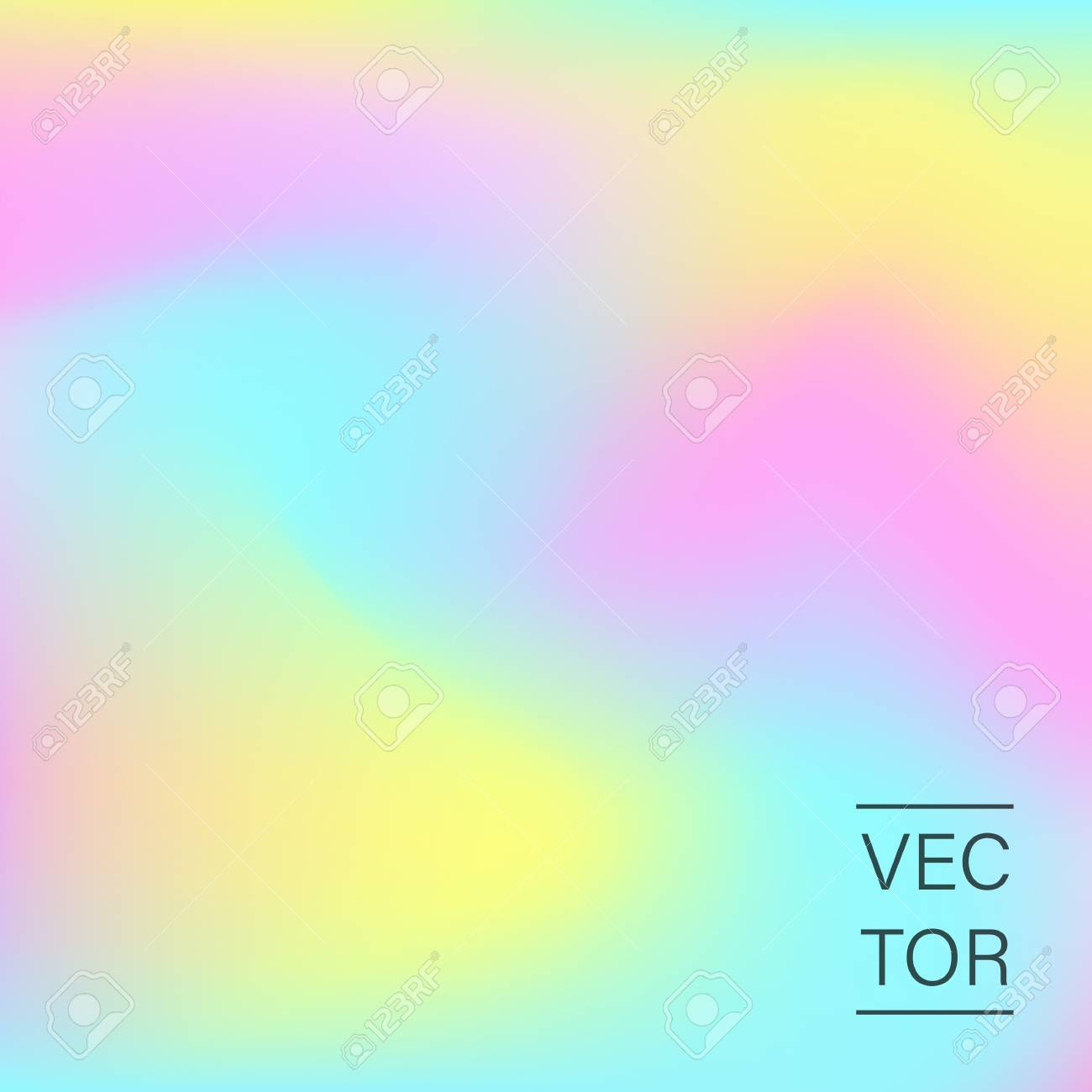 Holographic fashion pastel abstract background - 98070534