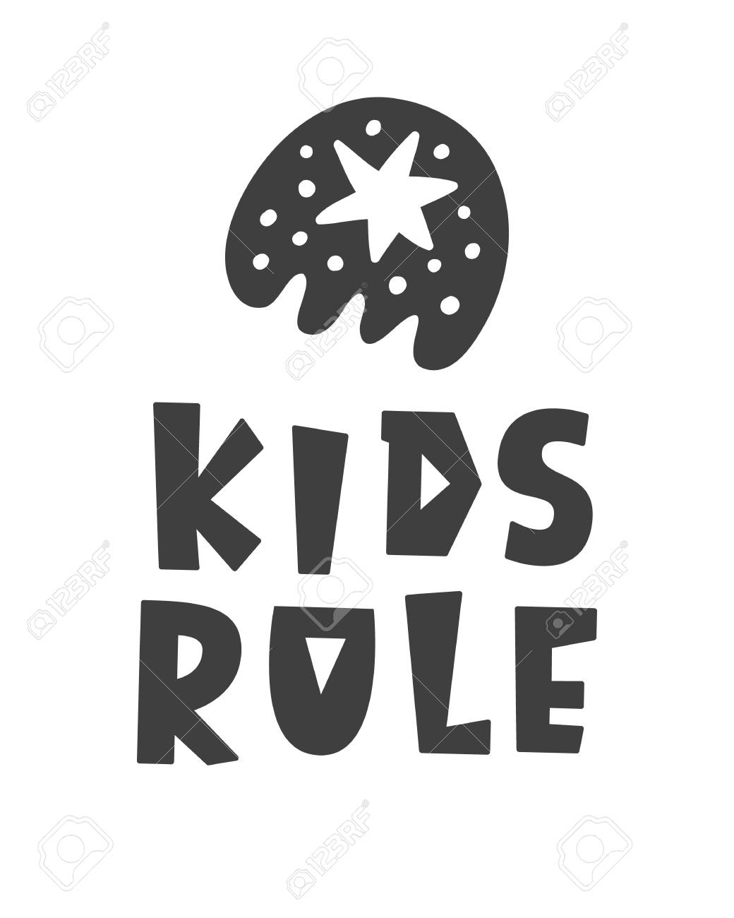 picture relating to Printable Poster Letters named Little ones Rule. Scandinavian layout childish poster with hand drawn..