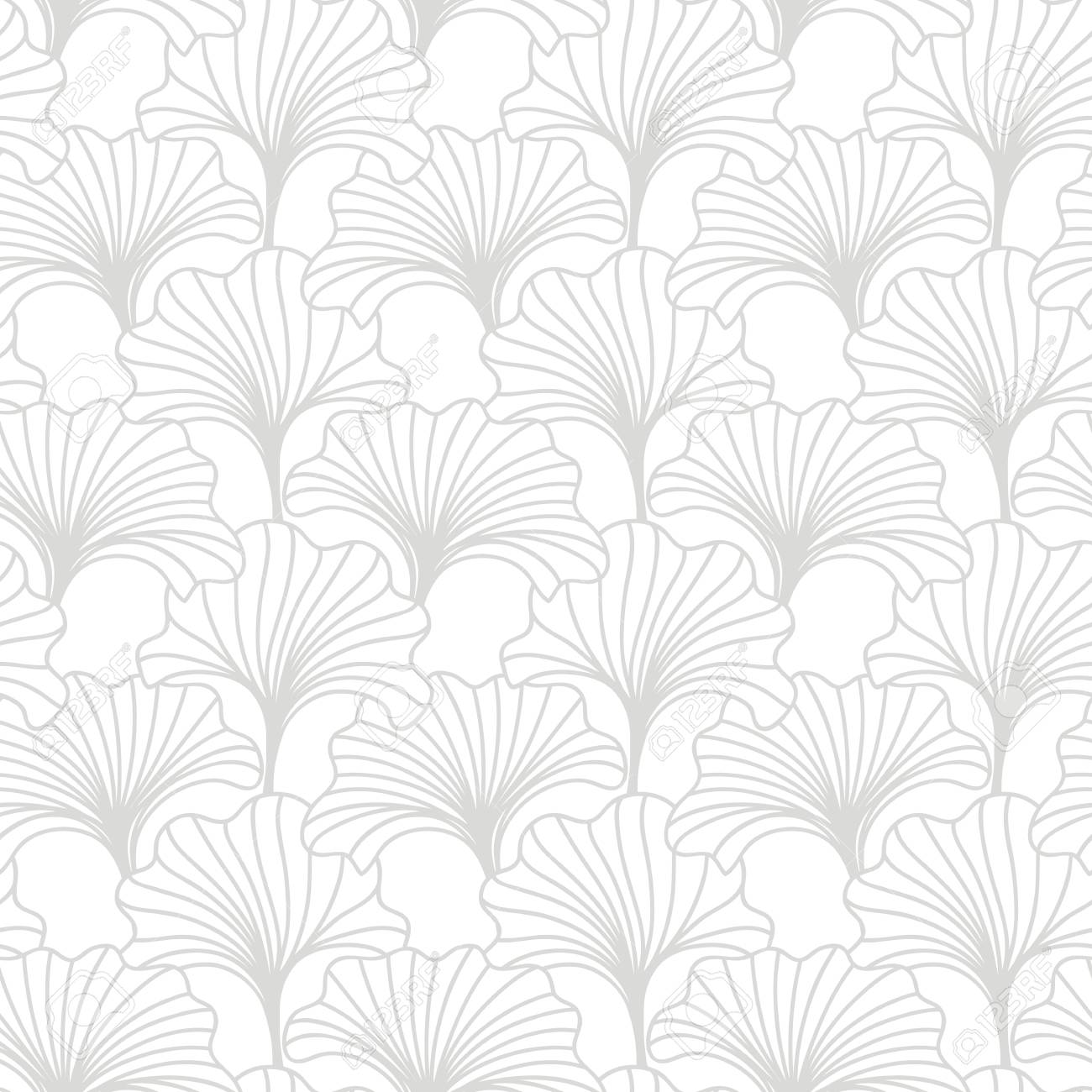 Hand drawn floral seamless pattern. Japanese, Chinese asian nature textile print. Oriental ornament background. Vector illustration - 127302821