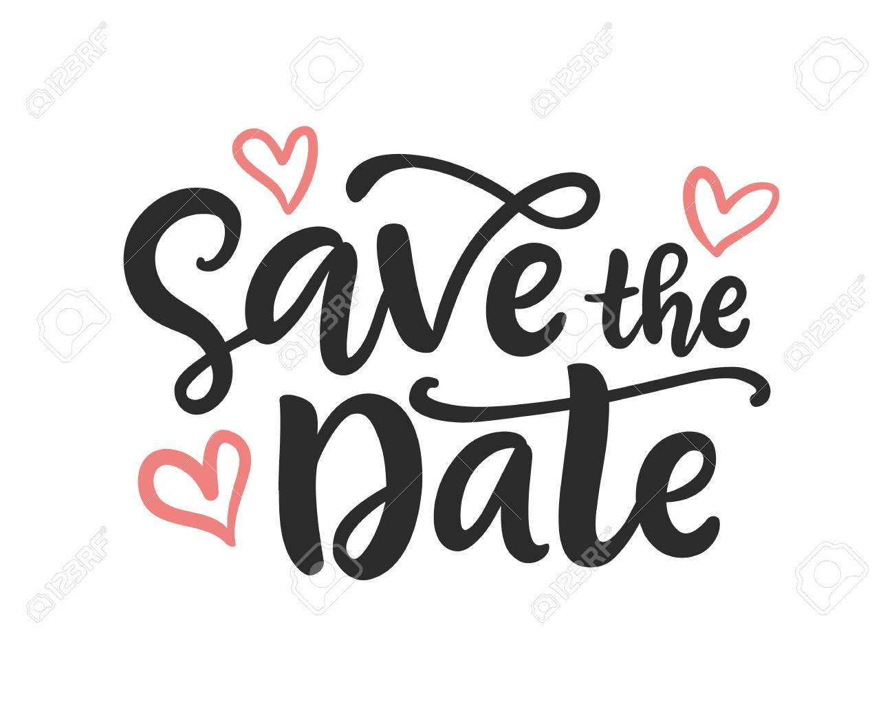 Save the date hand written lettering - 120885019