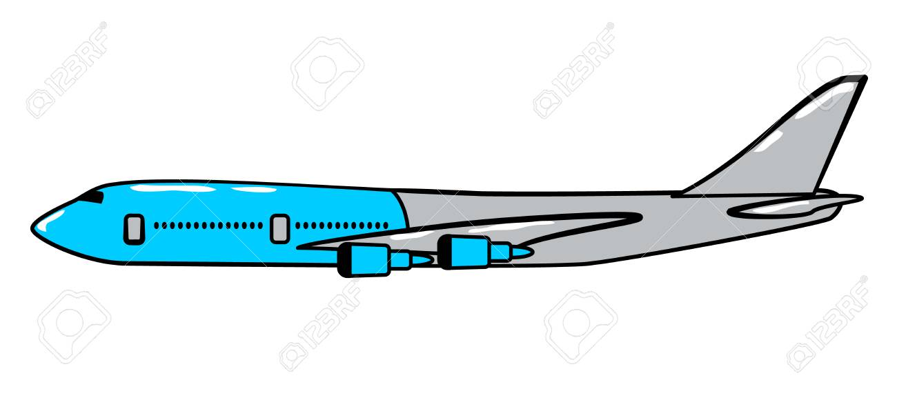Airplane Cartoon Sticker In Retro Style On White Background Vector Illustration For Travel Theme Stock