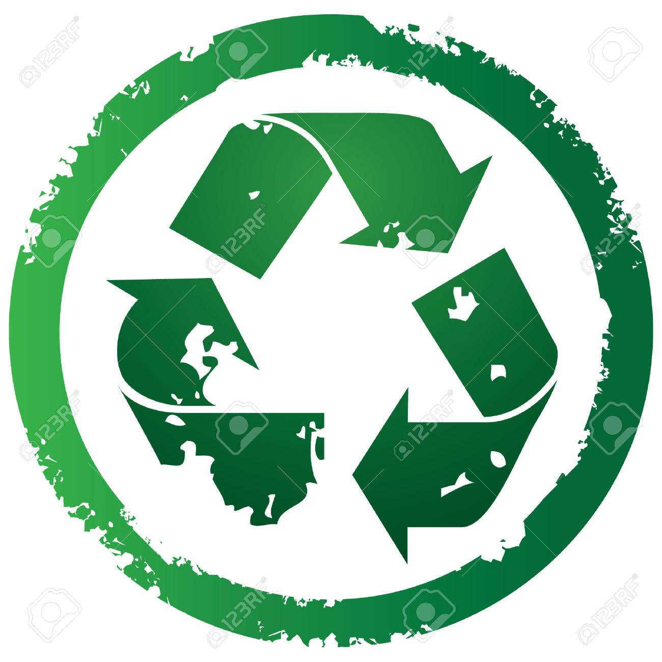 Grunge torn recycle illustration Stock Vector - 3954676