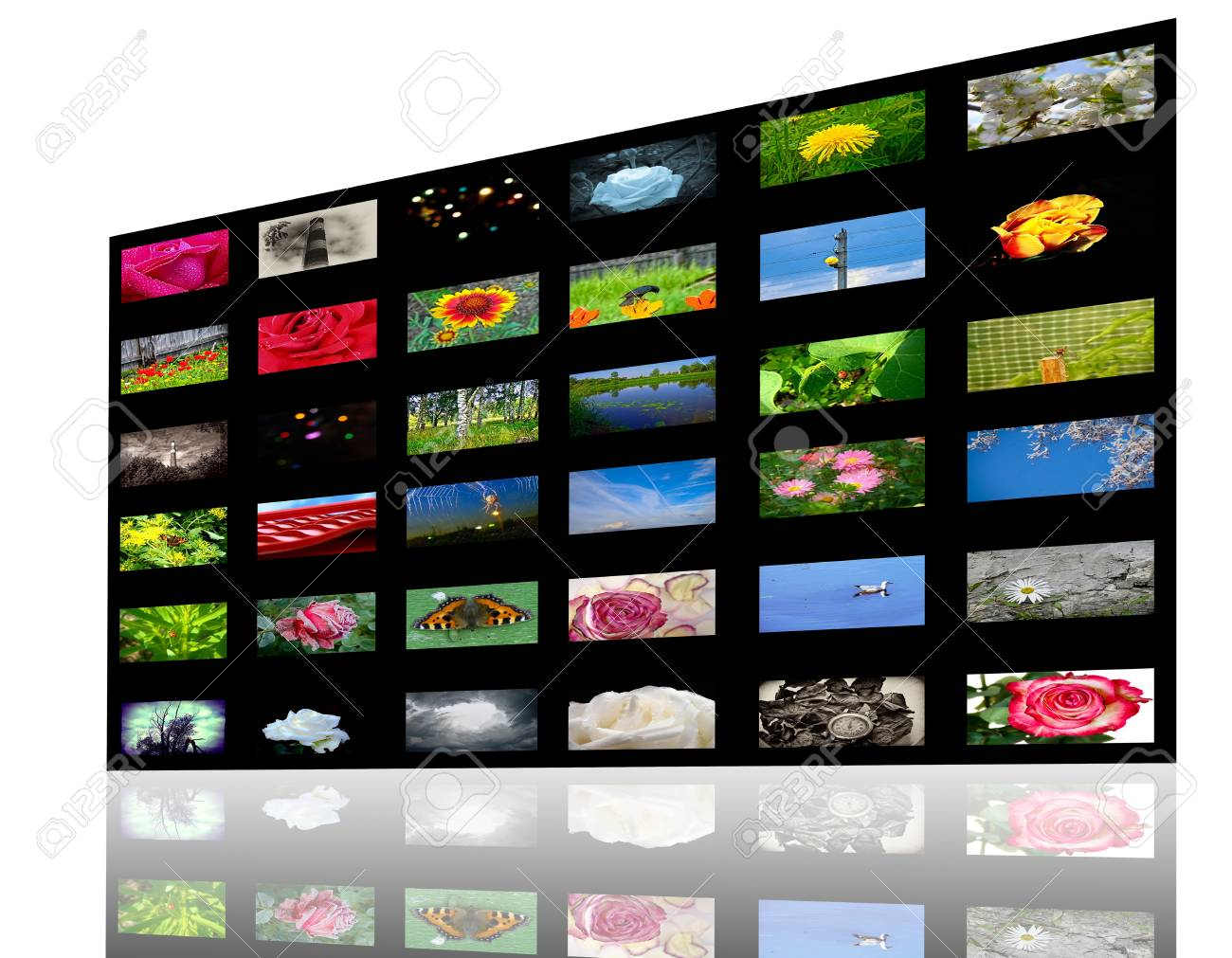 3D view of colorful media gallery Stock Photo - 11663696
