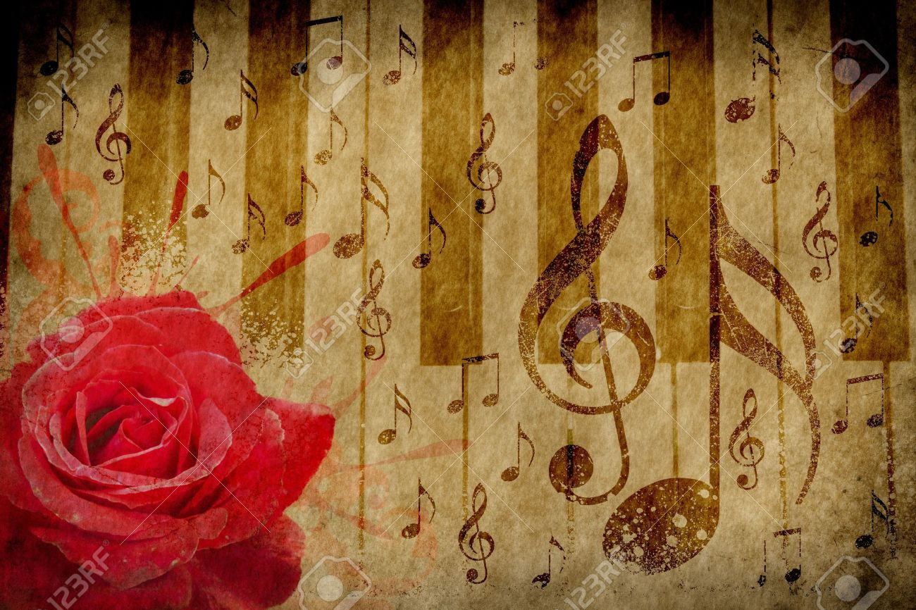 Download Wallpaper Music Rose - 15382547-abstract-grunge-rose-piano-and-music-notes-vintage-background  Collection_628668.jpg