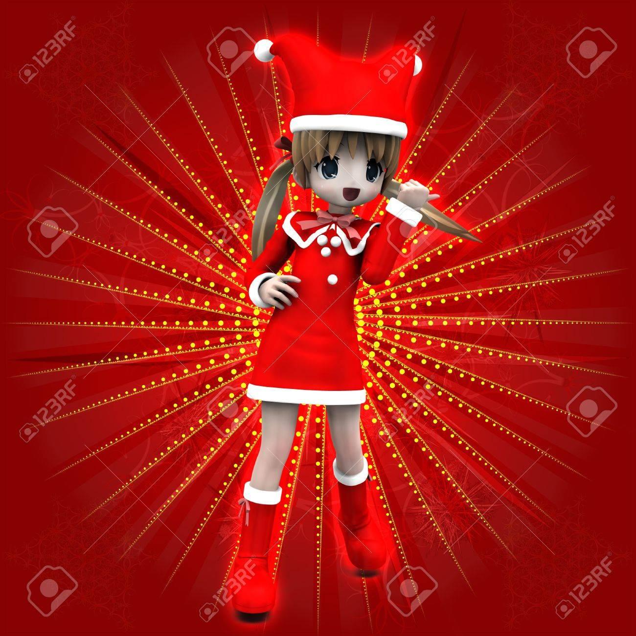 Anime Weihnachten Bilder.Stock Photo