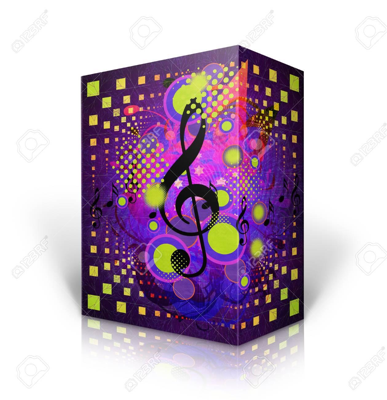 Illustration of closed music box on white background. Stock Illustration - 16403384