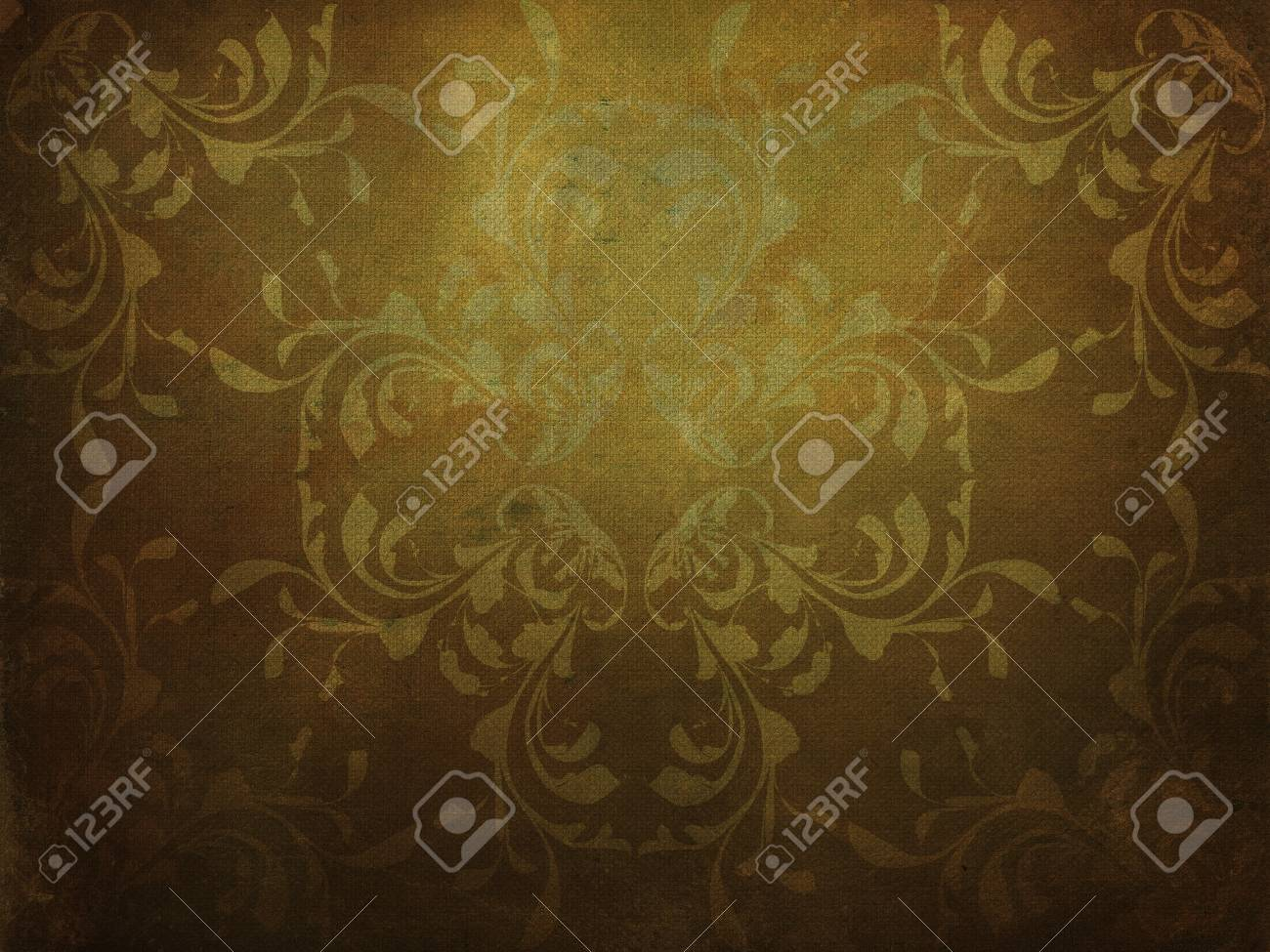 Illustration of abstract grunge yellow background with pattern texture. Stock Illustration - 16516363