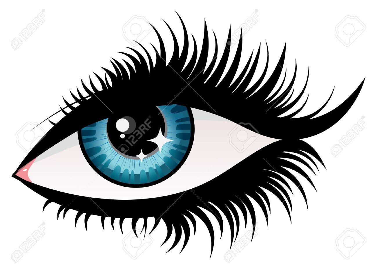 Illustration Of Woman Eye With Long Eyelashes. Royalty Free ...