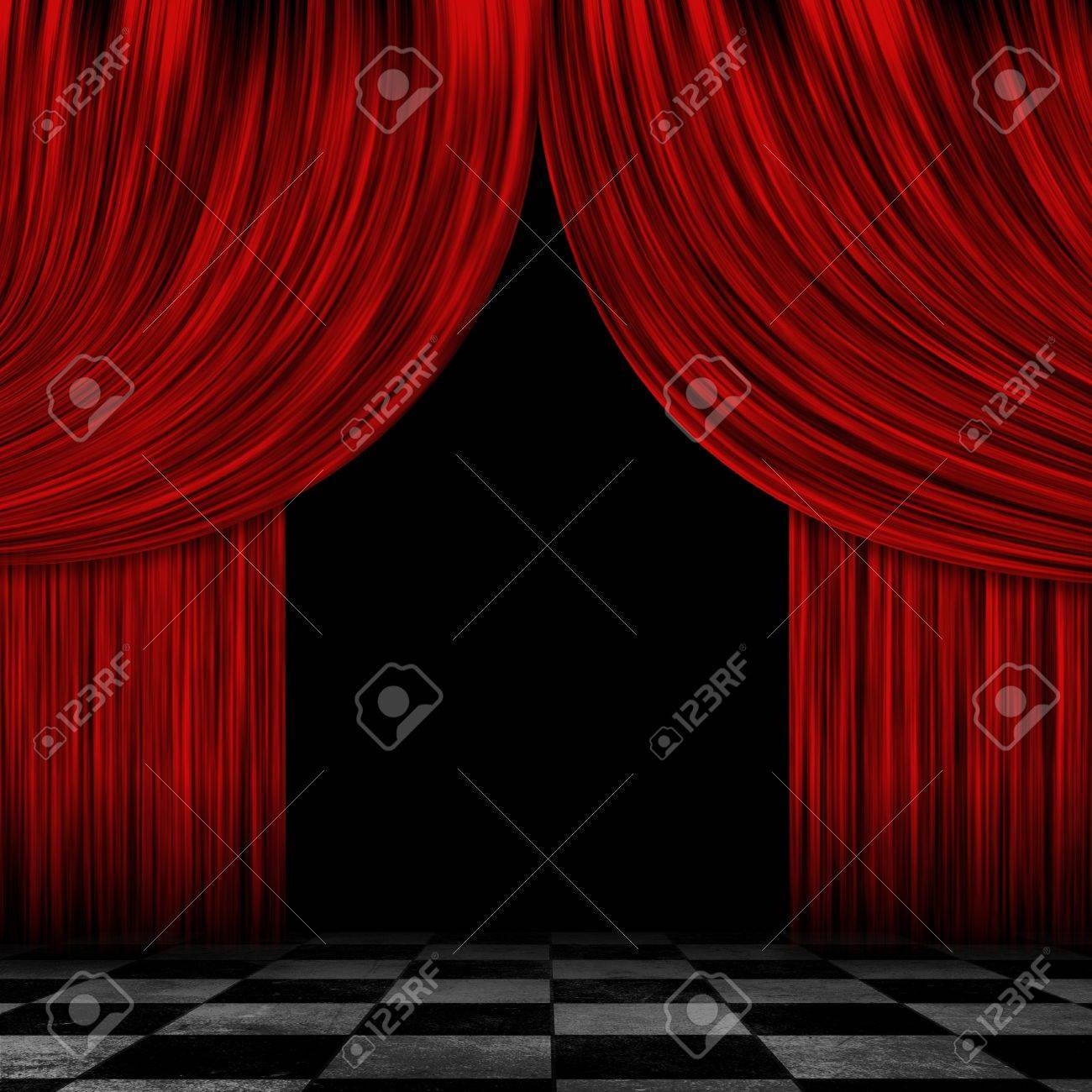 Open black curtain - Open Stage Curtains Illustration Illustration Of Open Theater Drapes Or Stage Curtains With A Black
