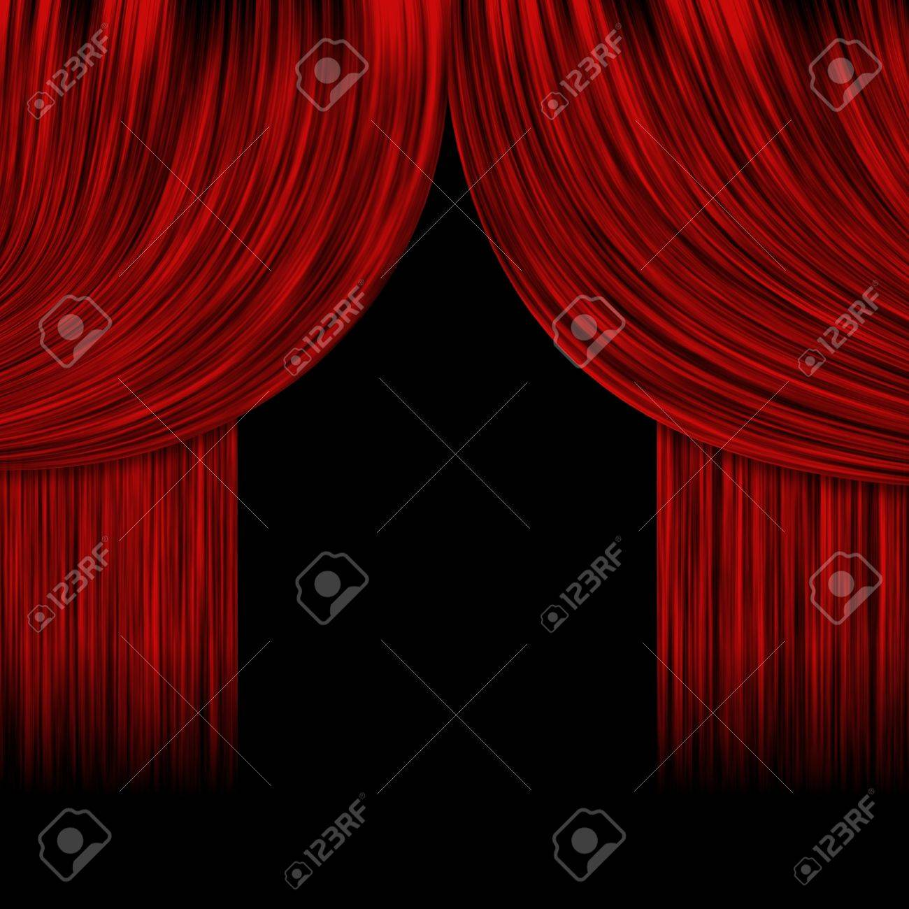Black stage curtains black stage curtain - Illustration Of Open Theater Drapes Or Stage Curtains With A Black Background Stock Illustration