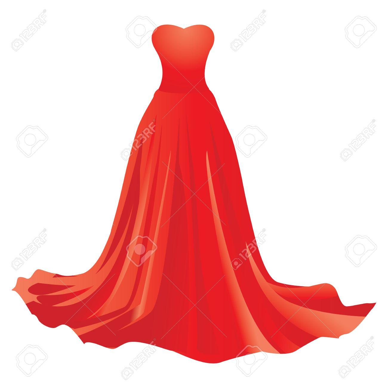 Vestido rojo de blanco