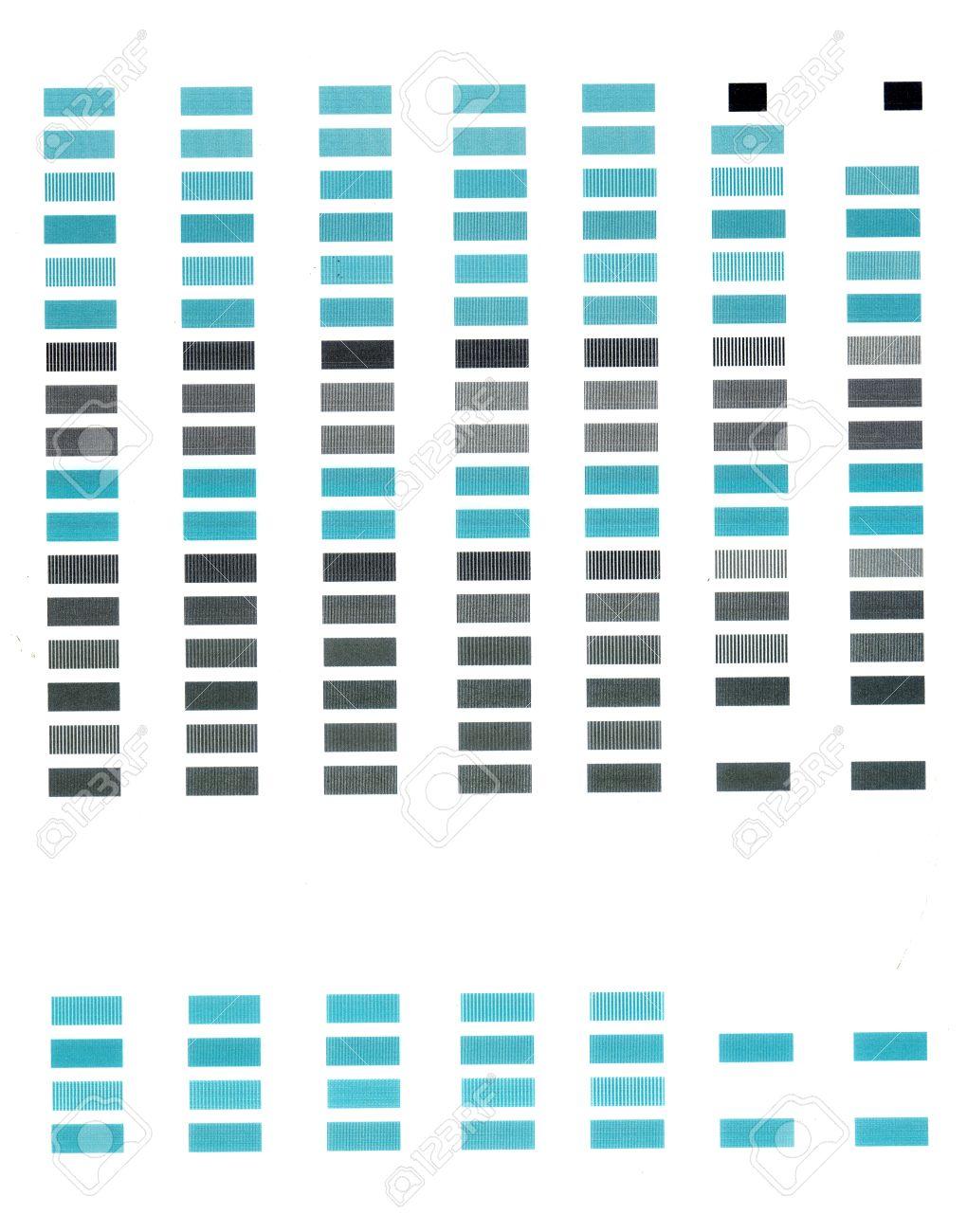 Página Simple Prueba De Impresión Con Filas De Rectángulos De Color ...