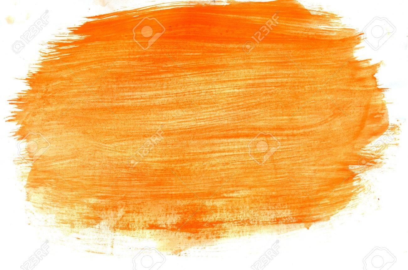 Résumé Gouache Peint Fond De Couleur Jaune Et Orange. Banque D ...