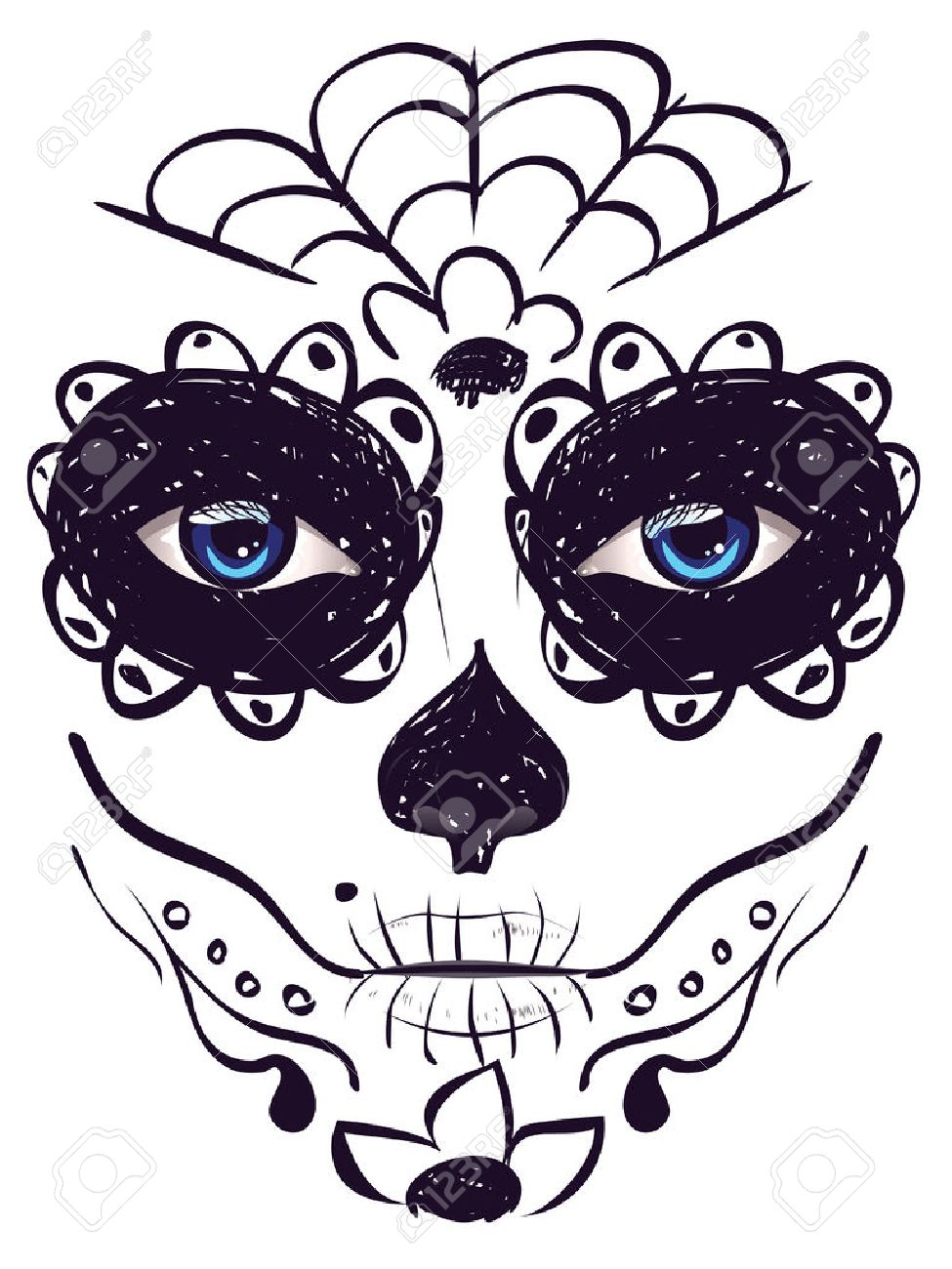 14804 Day Of The Dead Cliparts Stock Vector And Royalty Free Day
