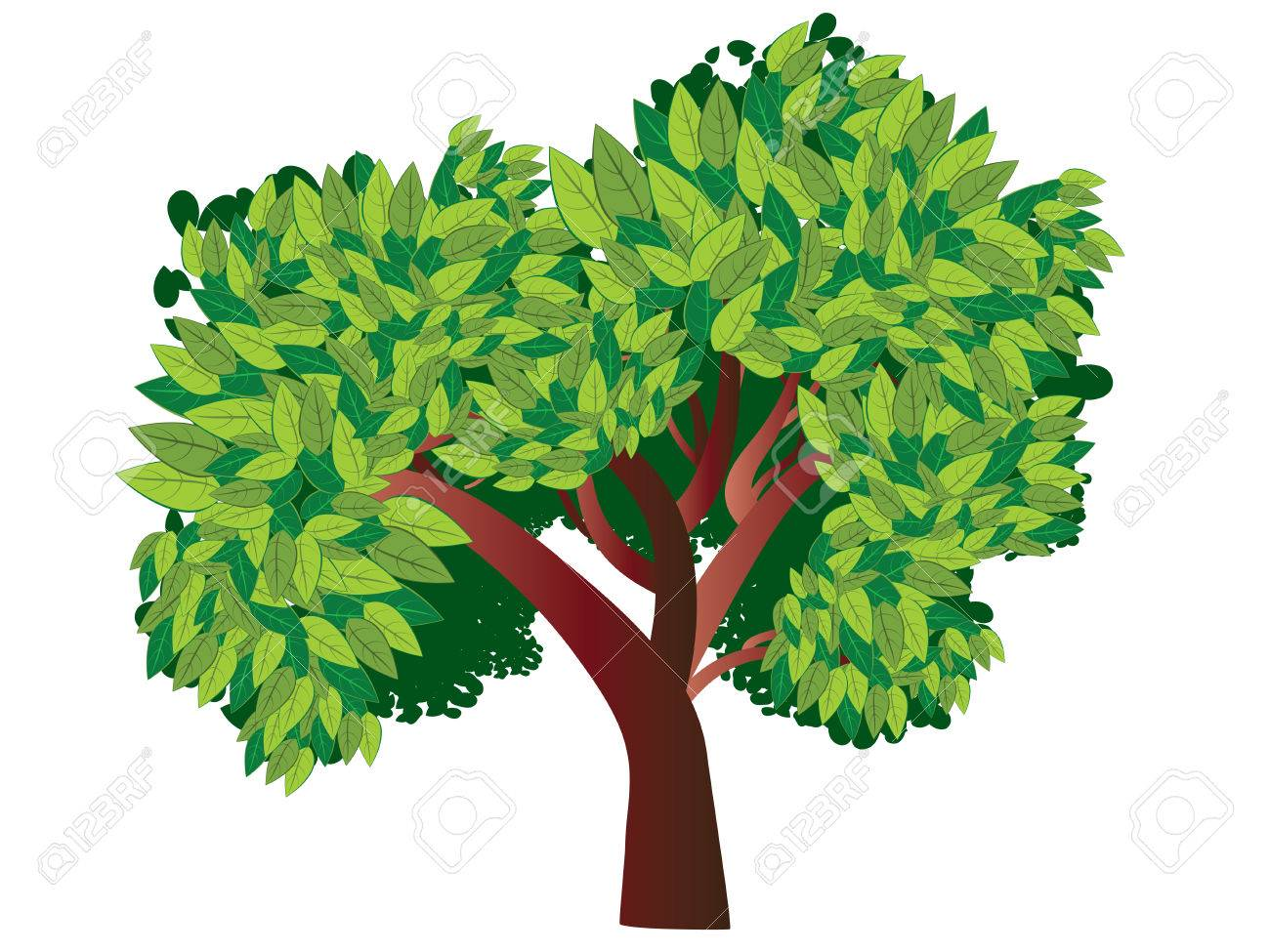 Abstract Cartoon Tree With Stylized Green Leaves Royalty Free Cliparts Vectors And Stock Illustration Image 53711323 Find & download free graphic resources for trees cartoon. abstract cartoon tree with stylized green leaves