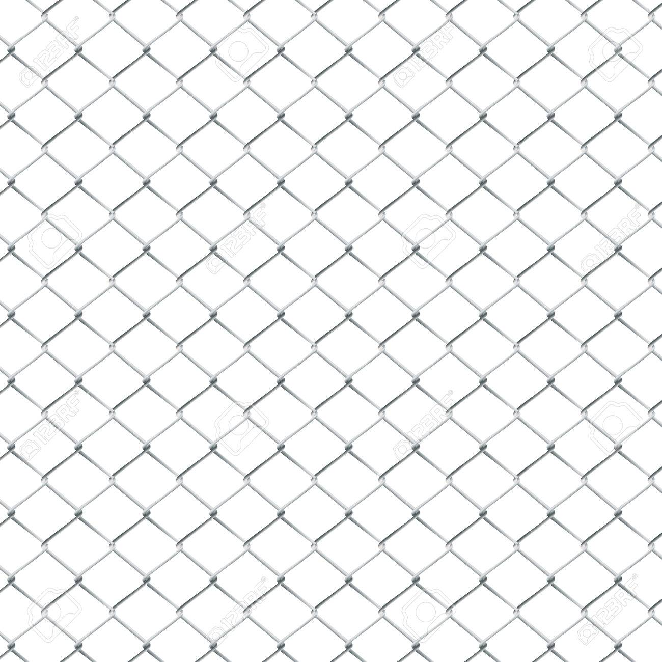 Fence Made Of Metal Wire Mesh Illustration On White Background ...