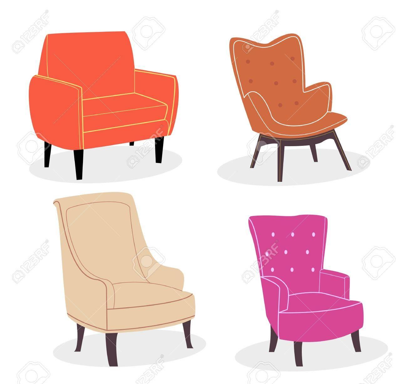 Chaise Confortable Design Color Gain De Cuir Et Tissu