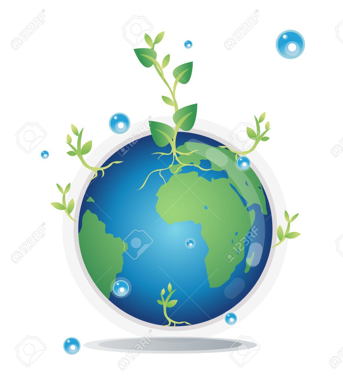 Globo Con Los árboles, El Cuidado De La Tierra Mediante La ...