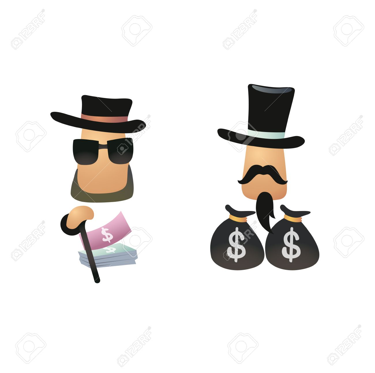 icon of rich people have money or businessman Stock Vector - 25996432