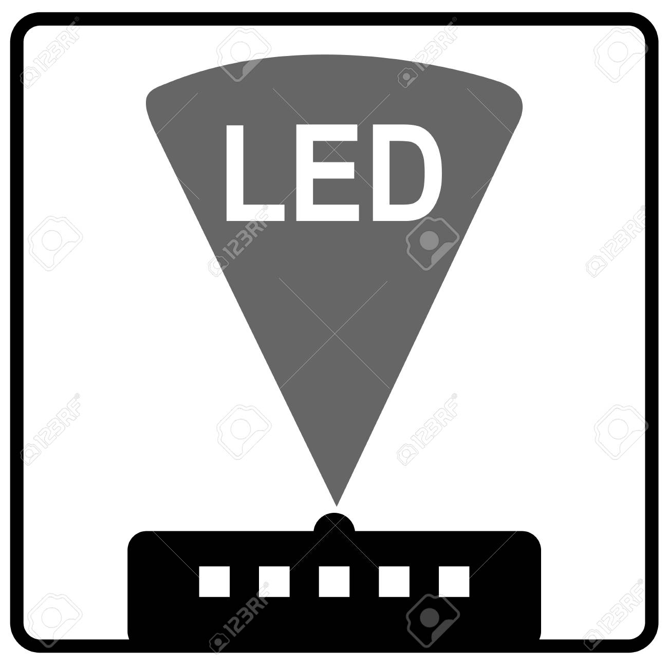 Symbol Of Light-emitting Diode (LED) Vector Royalty Free Cliparts ...