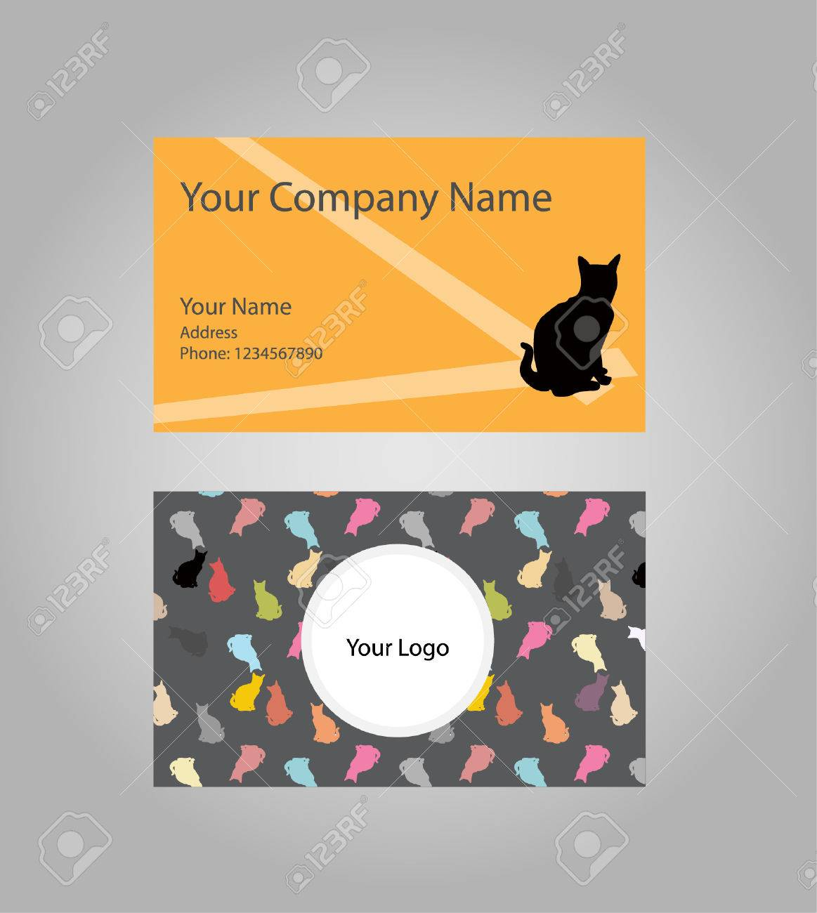 Cat Business Card Royalty Free Cliparts, Vectors, And Stock ...