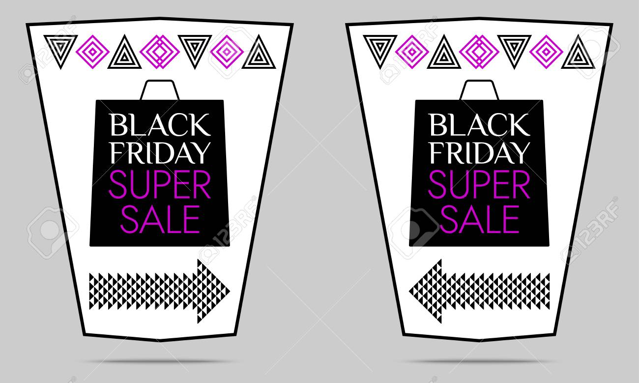 e855afc08a Black Friday Super Sale. Vector Flyer With Black