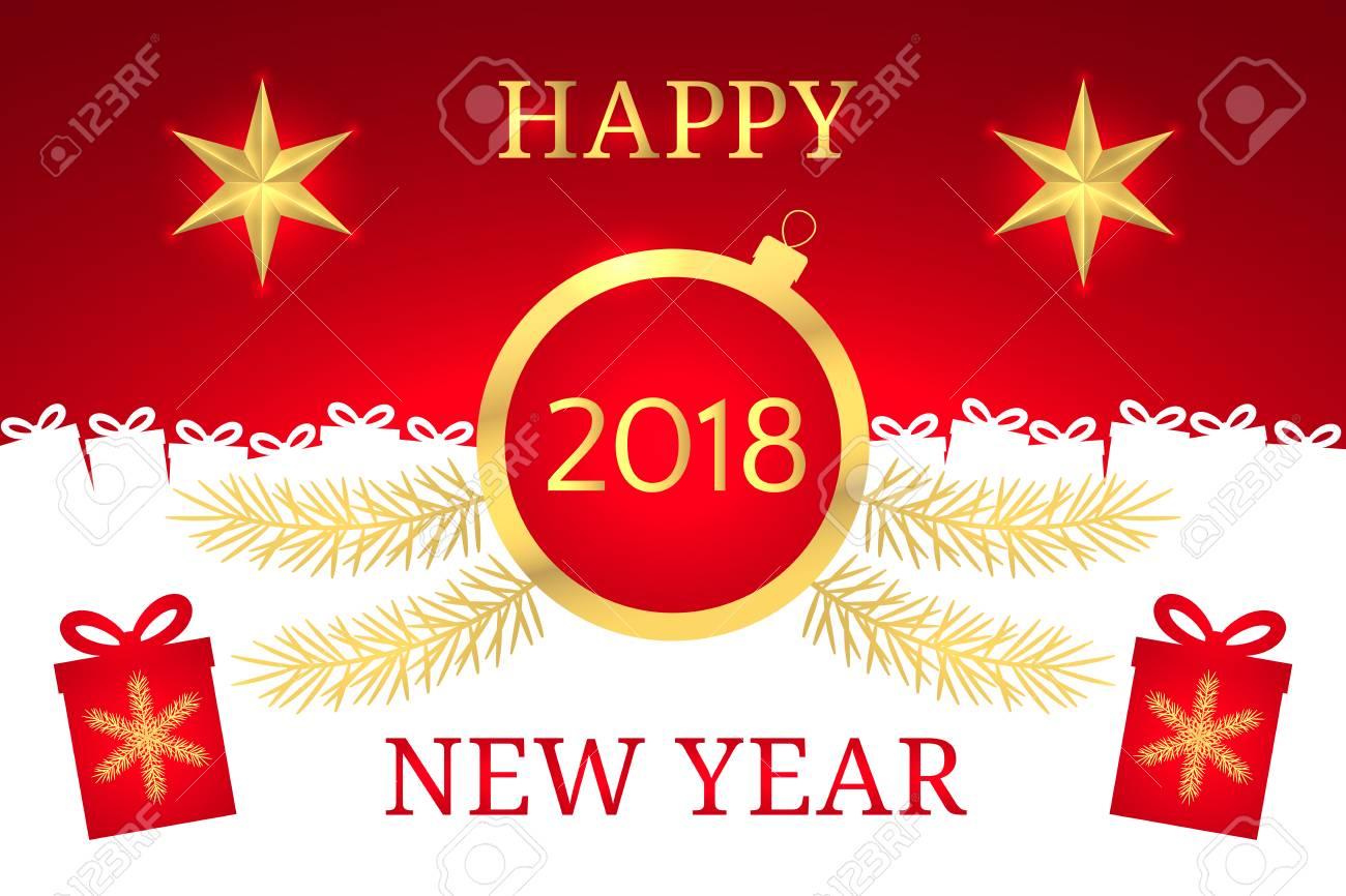 Greeting In New Year Gallery Greetings Card Design Simple