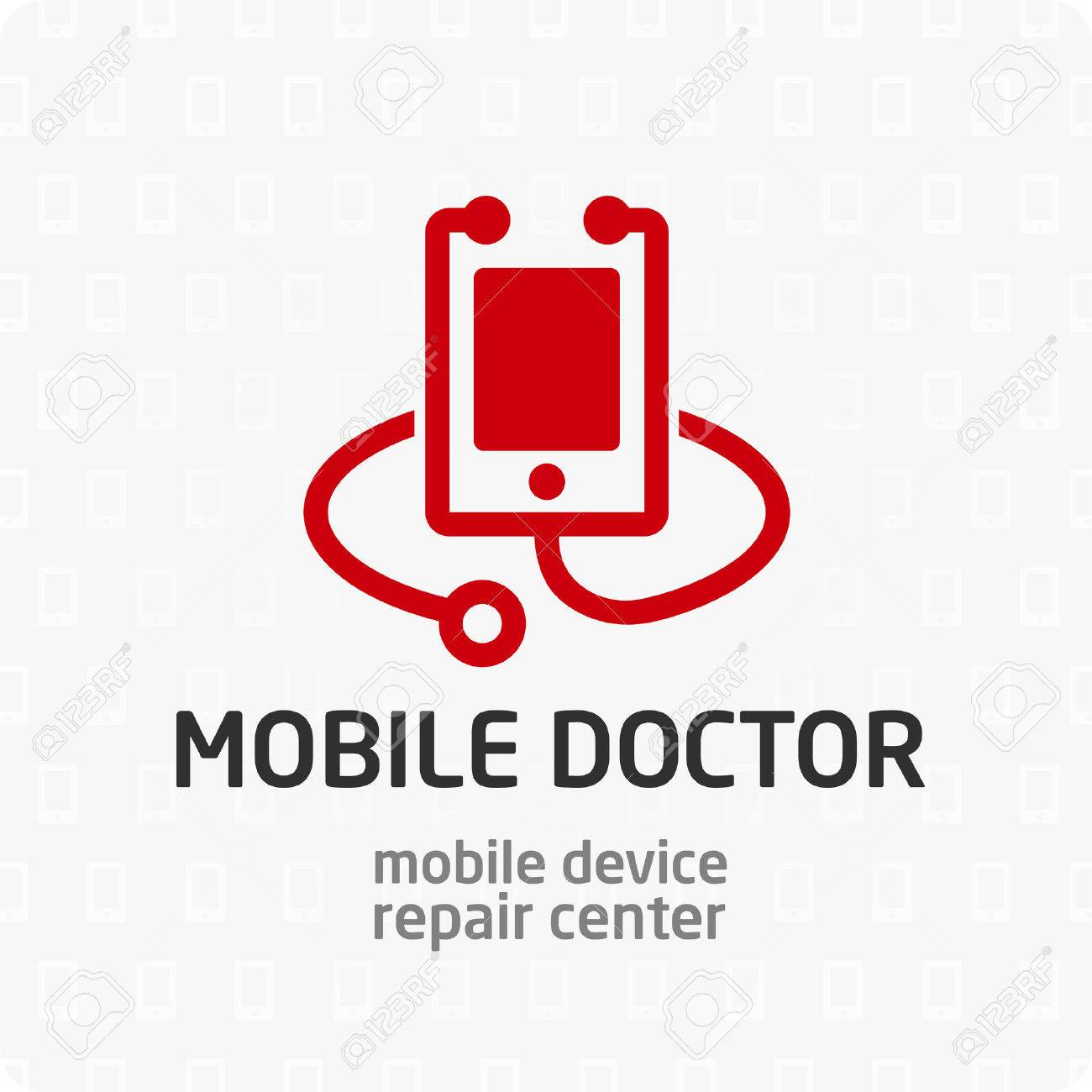 smart phone device repair symbol logo icon sign template for