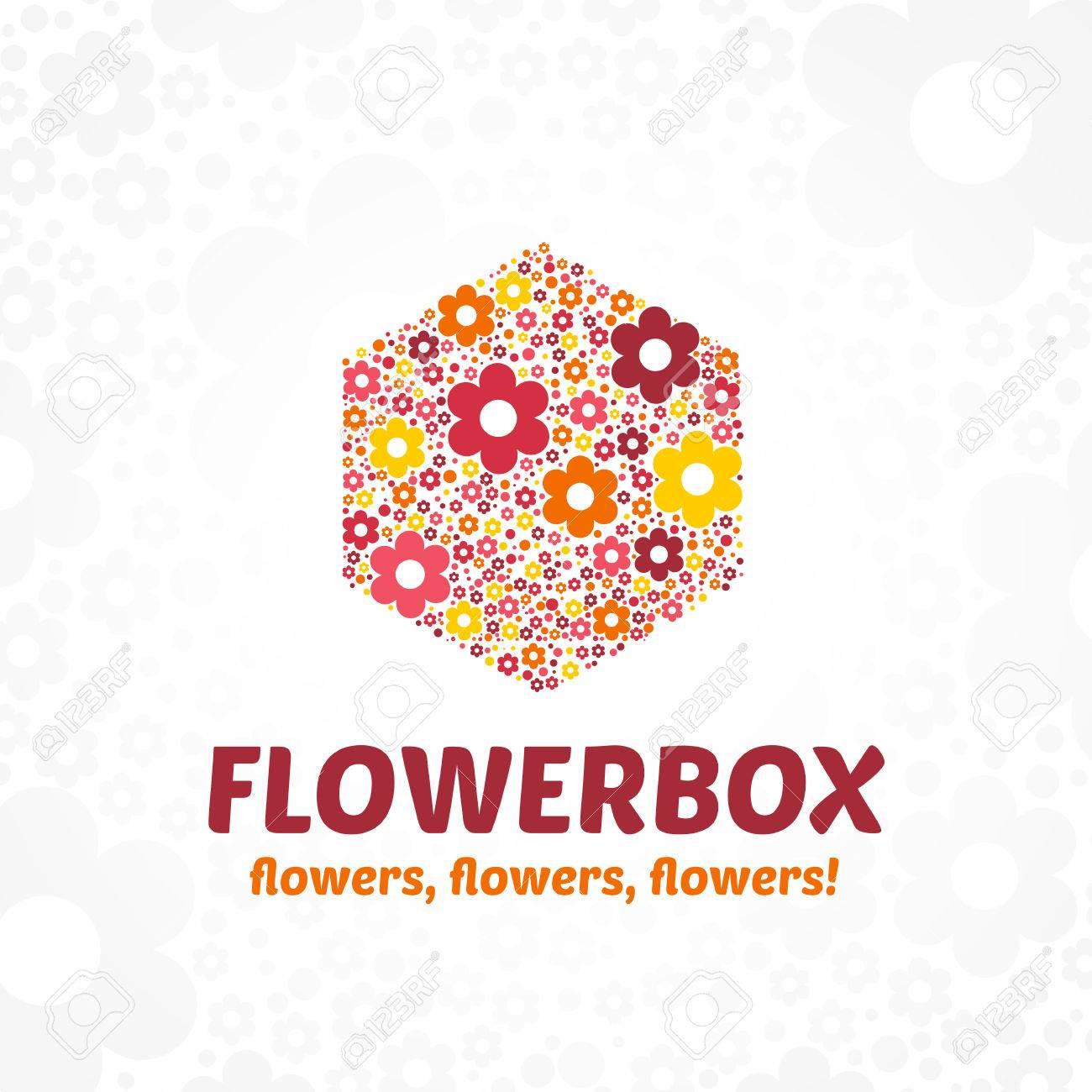 Plantilla De Logotipo Para Una Tienda De Flores, Un Salón De Belleza ...