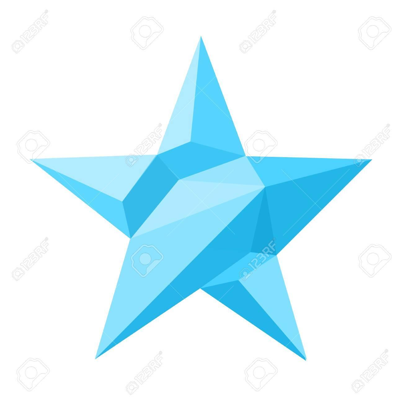 Vektor-Illustration Von Eis Stern. Sternschablone. Icon Sternförmig ...