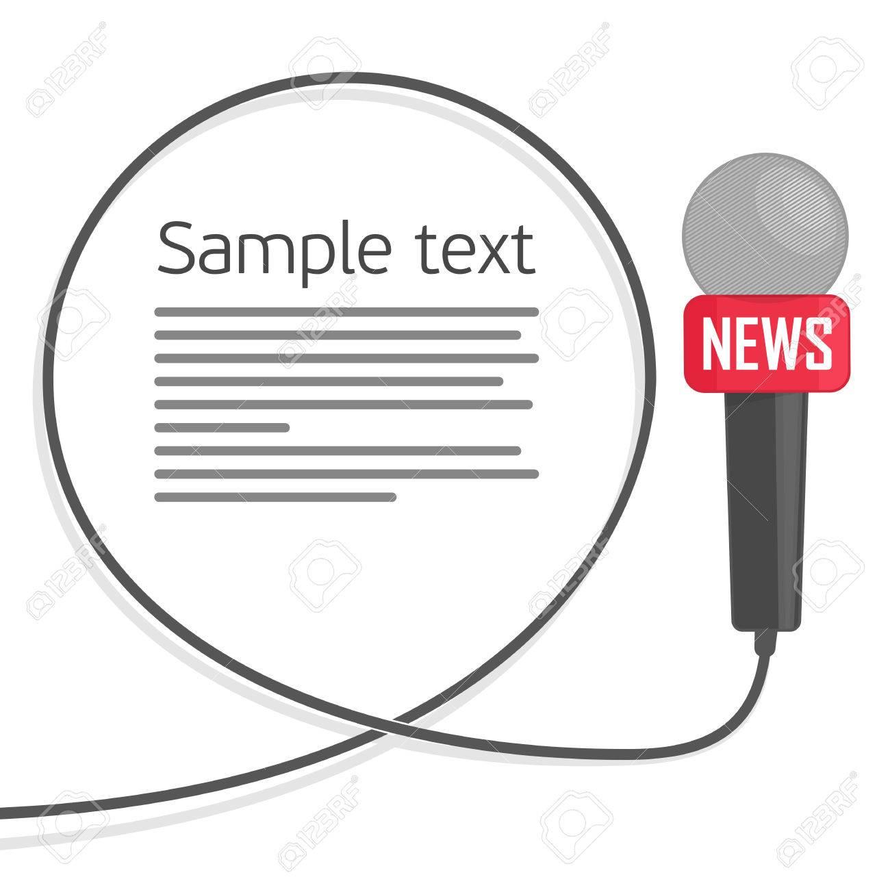 Mikrofon Mit Einem Draht Auf Einem Weißen Hintergrund. Symbol, Das ...