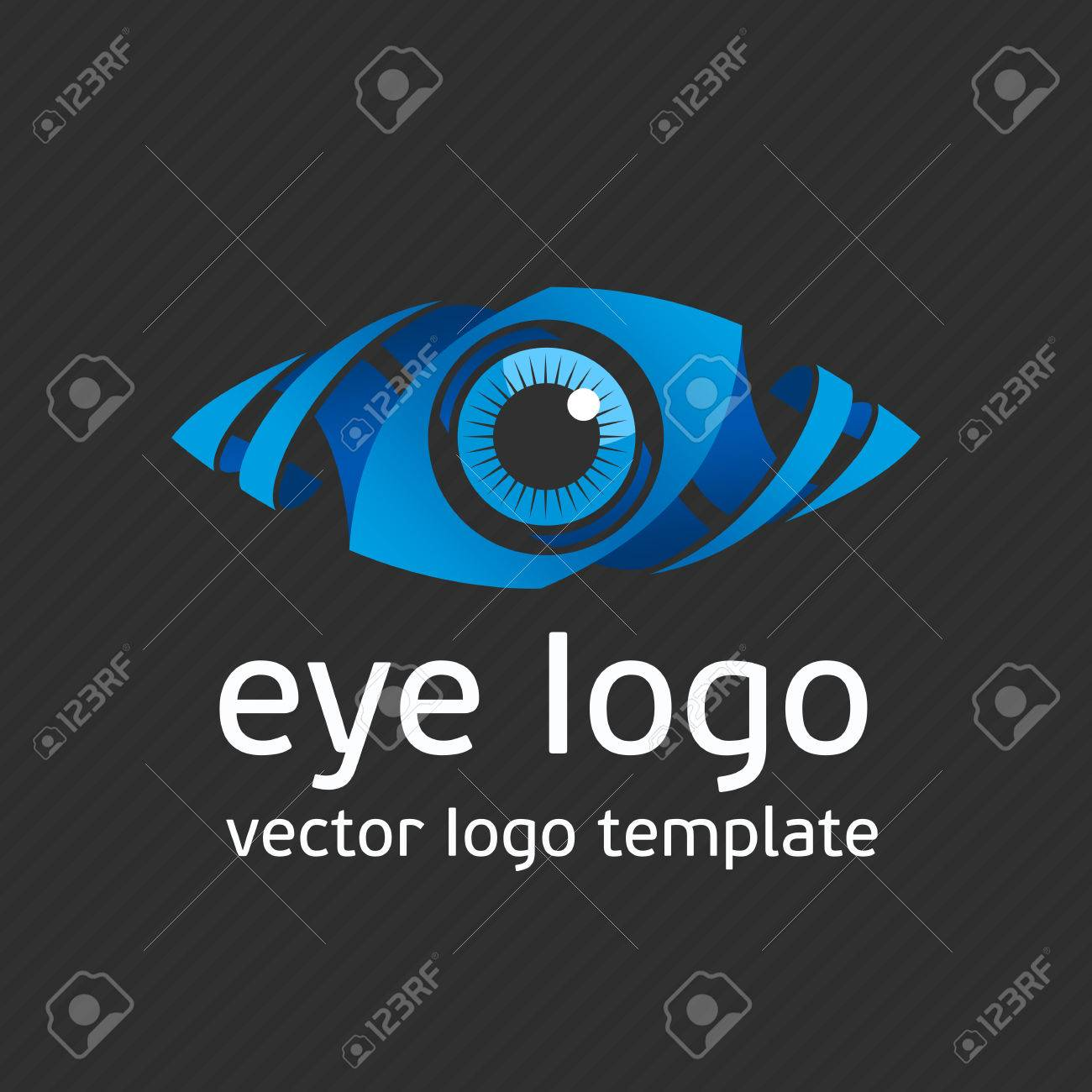 eye logo design vector template colorful media icon creative